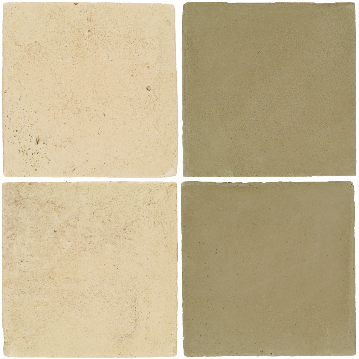 Pedralbes Antique Terracotta  2 Color Combinations  VTG-PGPW Pergamino White + OHS-PGDW Dirty W.