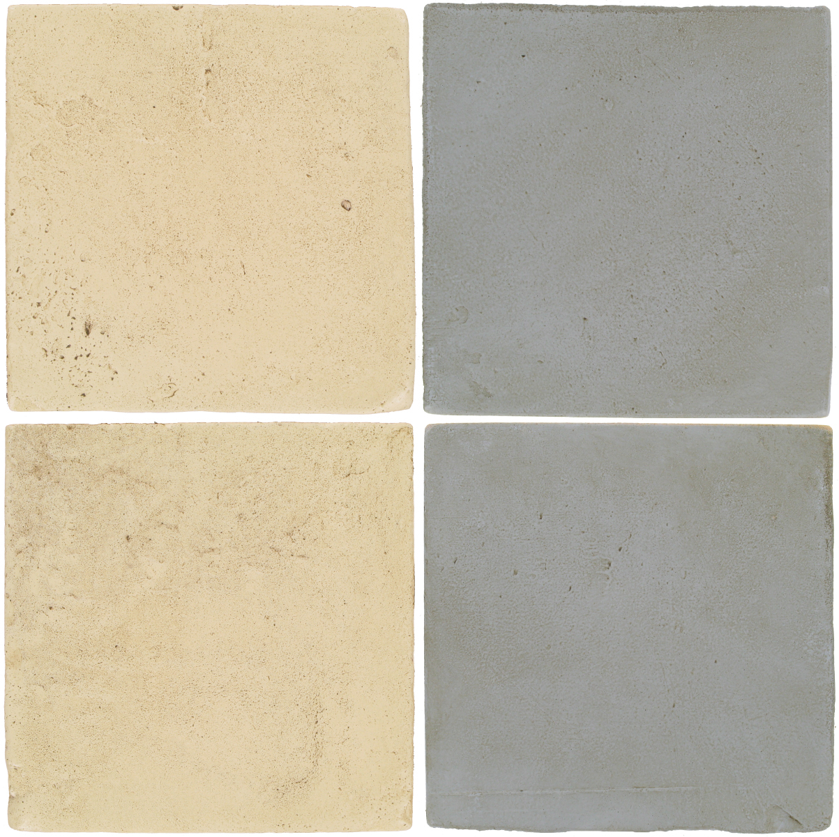 Pedralbes Antique Terracotta  2 Color Combinations  VTG-PGPW Pergamino White + OHS-PGOG Oyster Grey