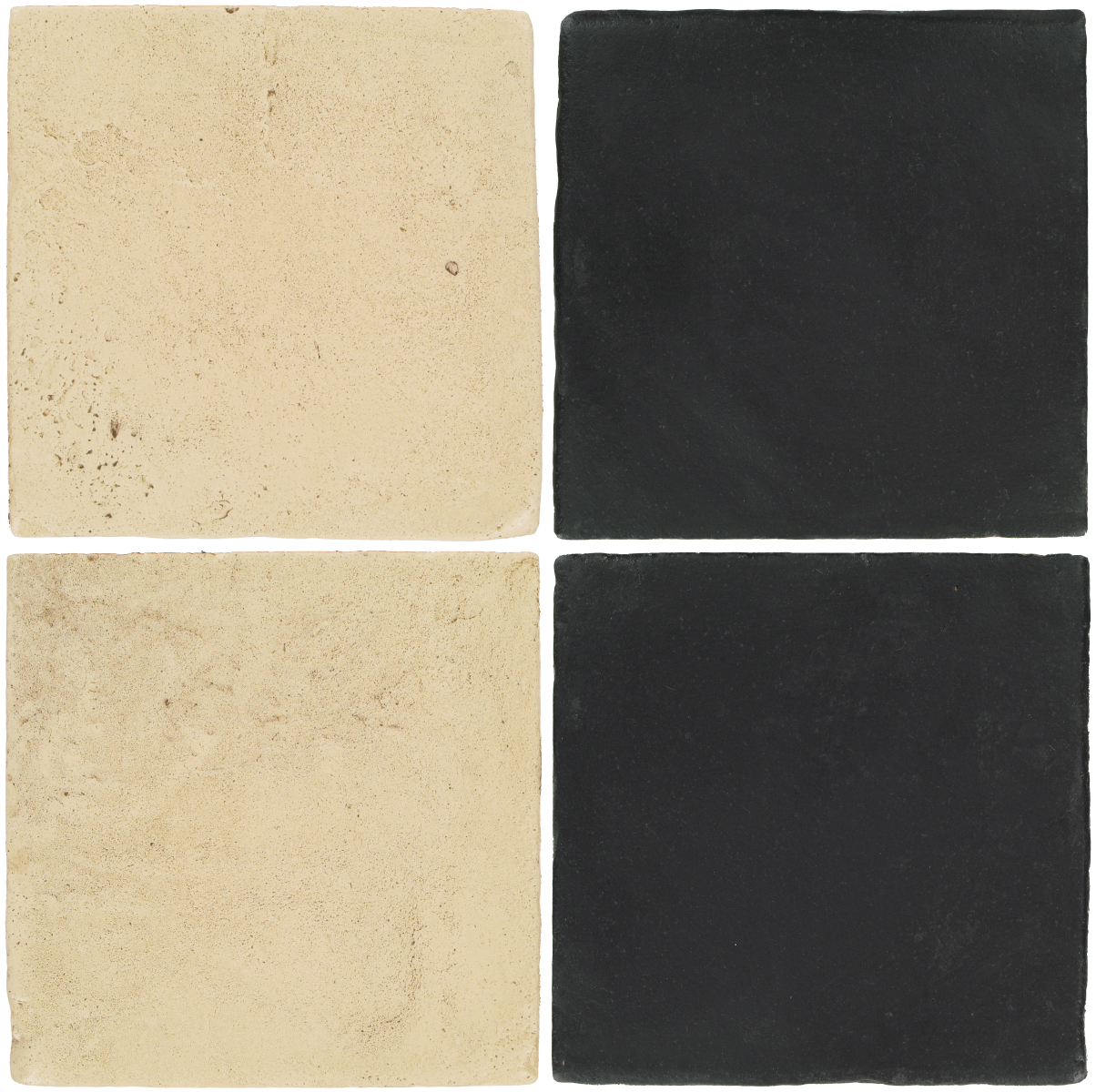 Pedralbes Antique Terracotta  2 Color Combinations  VTG-PGPW Pergamino White + OHS-PGCB Carbon Black