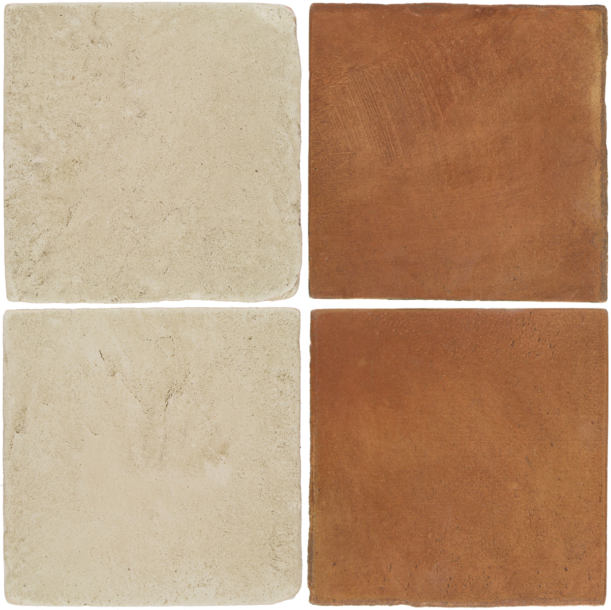 Pedralbes Antique Terracotta  2 Color Combinations  VTG-PGLW Glacier White + OHS-PSTR Traditional