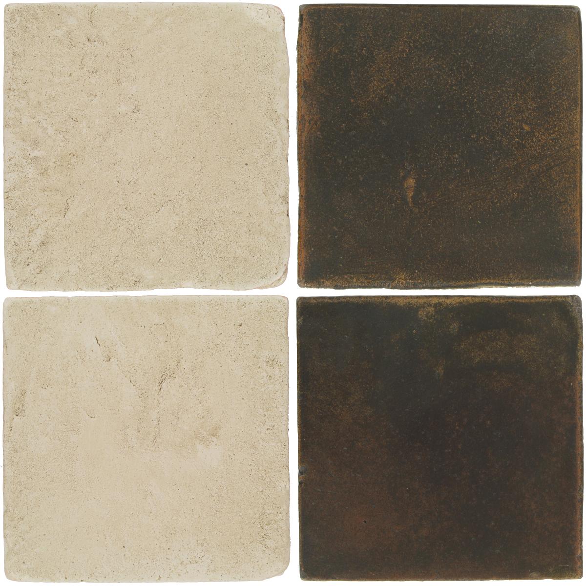 Pedralbes Antique Terracotta  2 Color Combinations  VTG-PGLW Glacier White + OHS-PSCO Cologne Brown