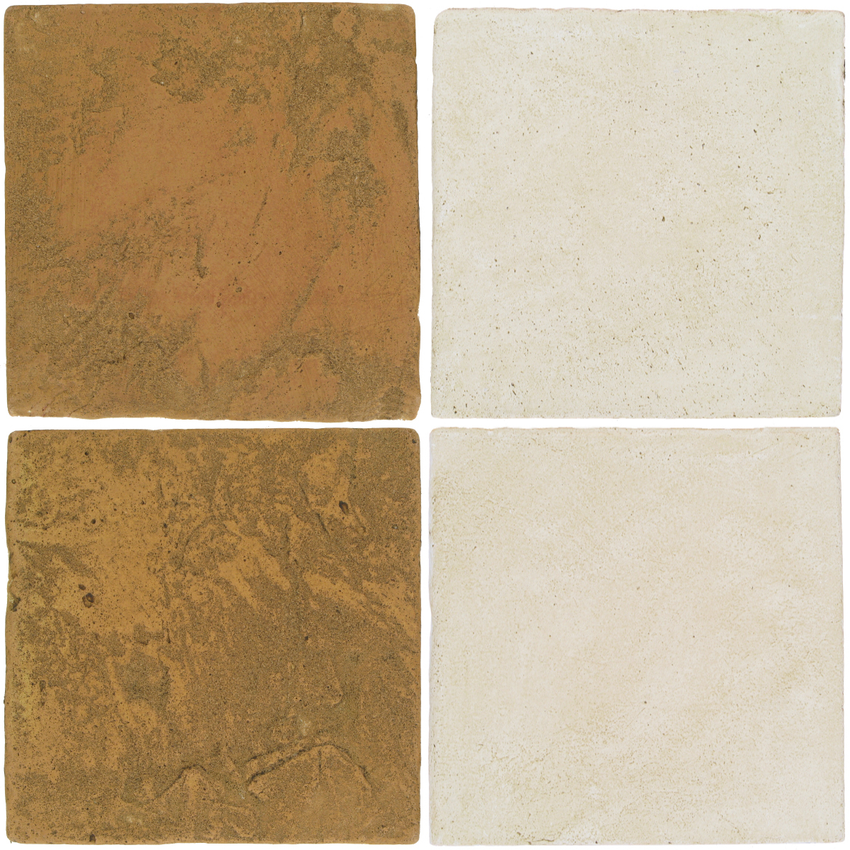 Pedralbes Antique Terracotta  2 Color Combinations  VTG-PSSW Siena Wheat + OHS-PGAW Antique White