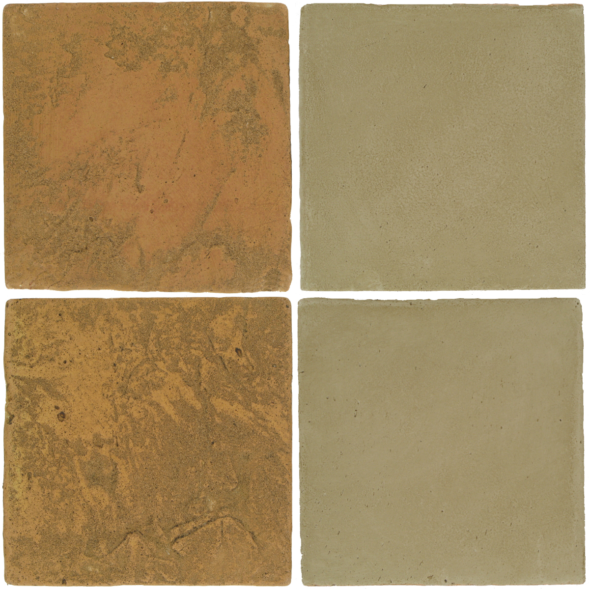 Pedralbes Antique Terracotta  2 Color Combinations  VTG-PSSW Siena Wheat + OHS-PGDW Dirty W.
