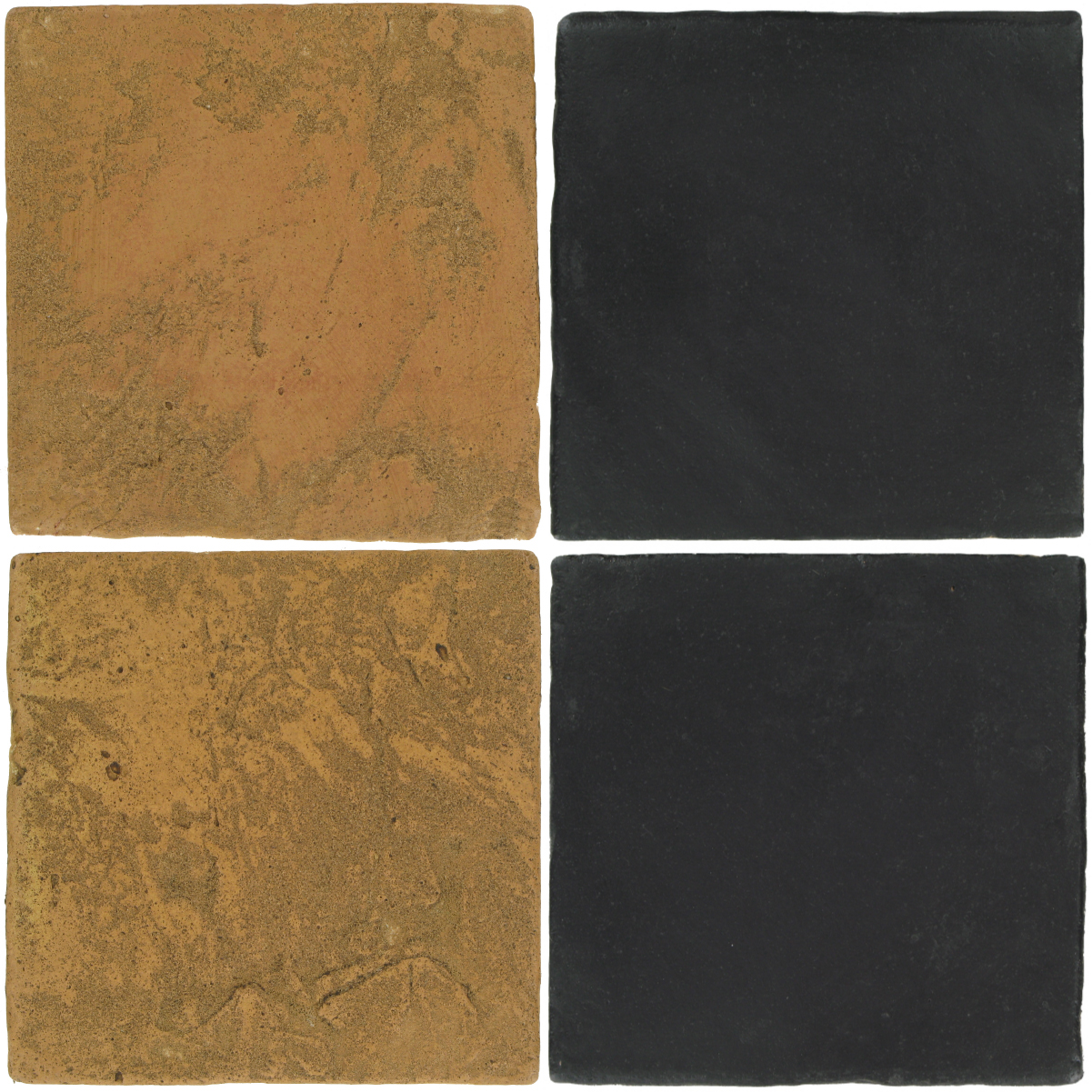 Pedralbes Antique Terracotta  2 Color Combinations  VTG-PSSW Siena Wheat + OHS-PGCB Carbon Black