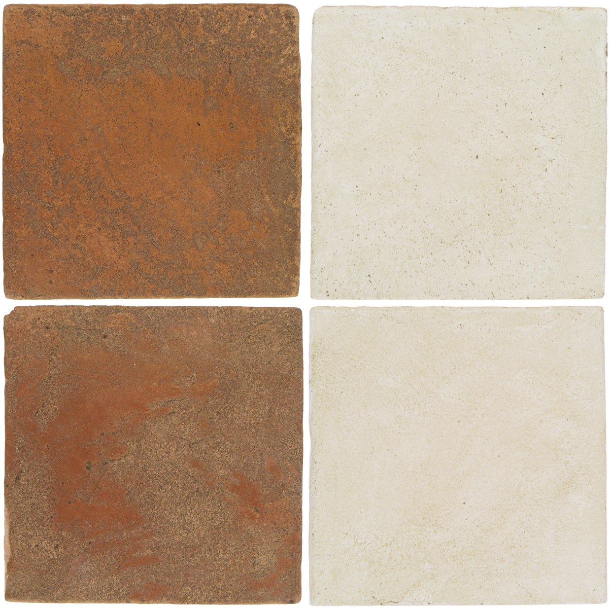 Pedralbes Antique Terracotta  2 Color Combinations  VTG-PSTR Traditional + OHS-PGAW Antique White