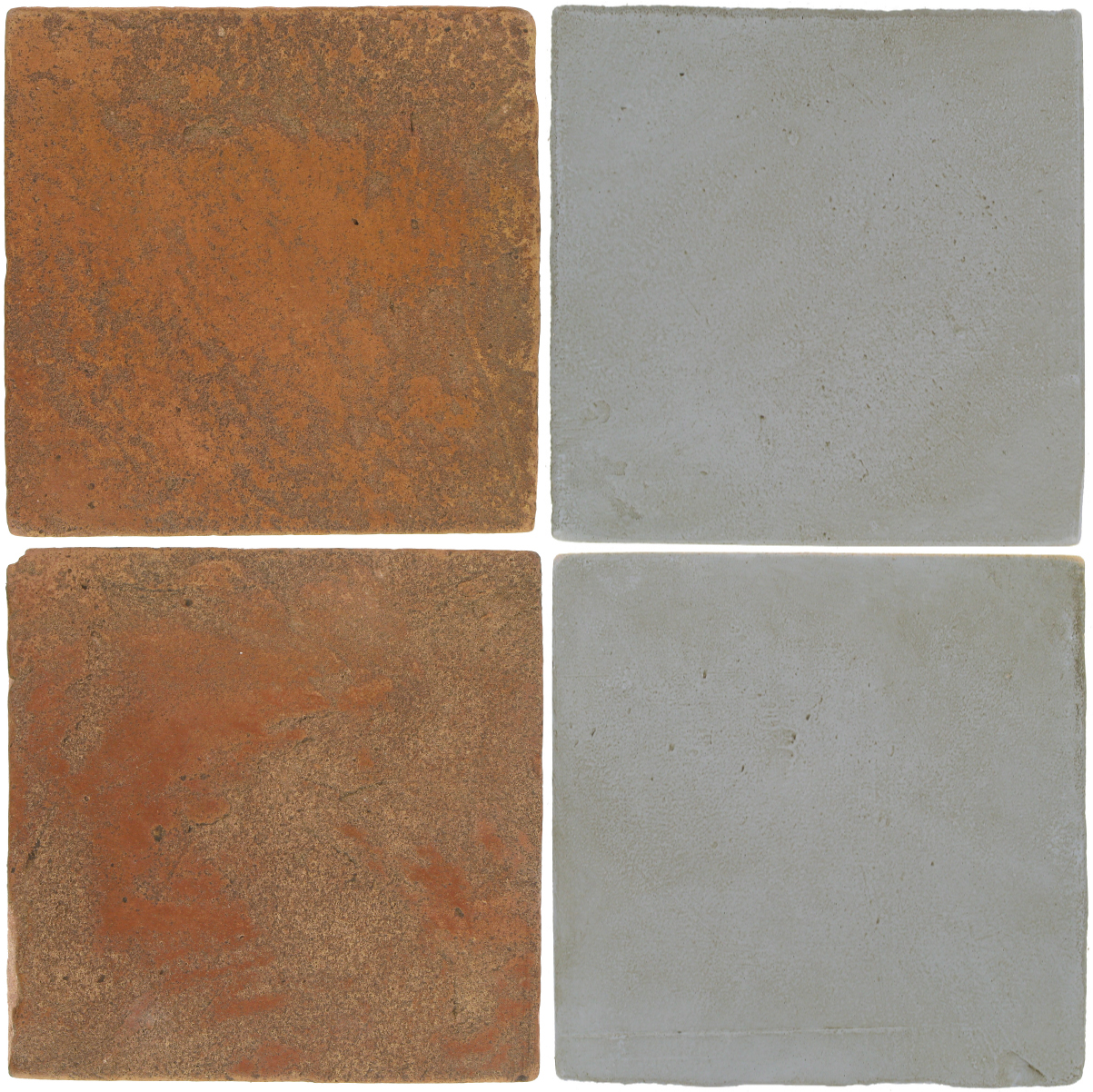 Pedralbes Antique Terracotta  2 Color Combinations  VTG-PSTR Traditional + OHS-PGOG Oyster Grey
