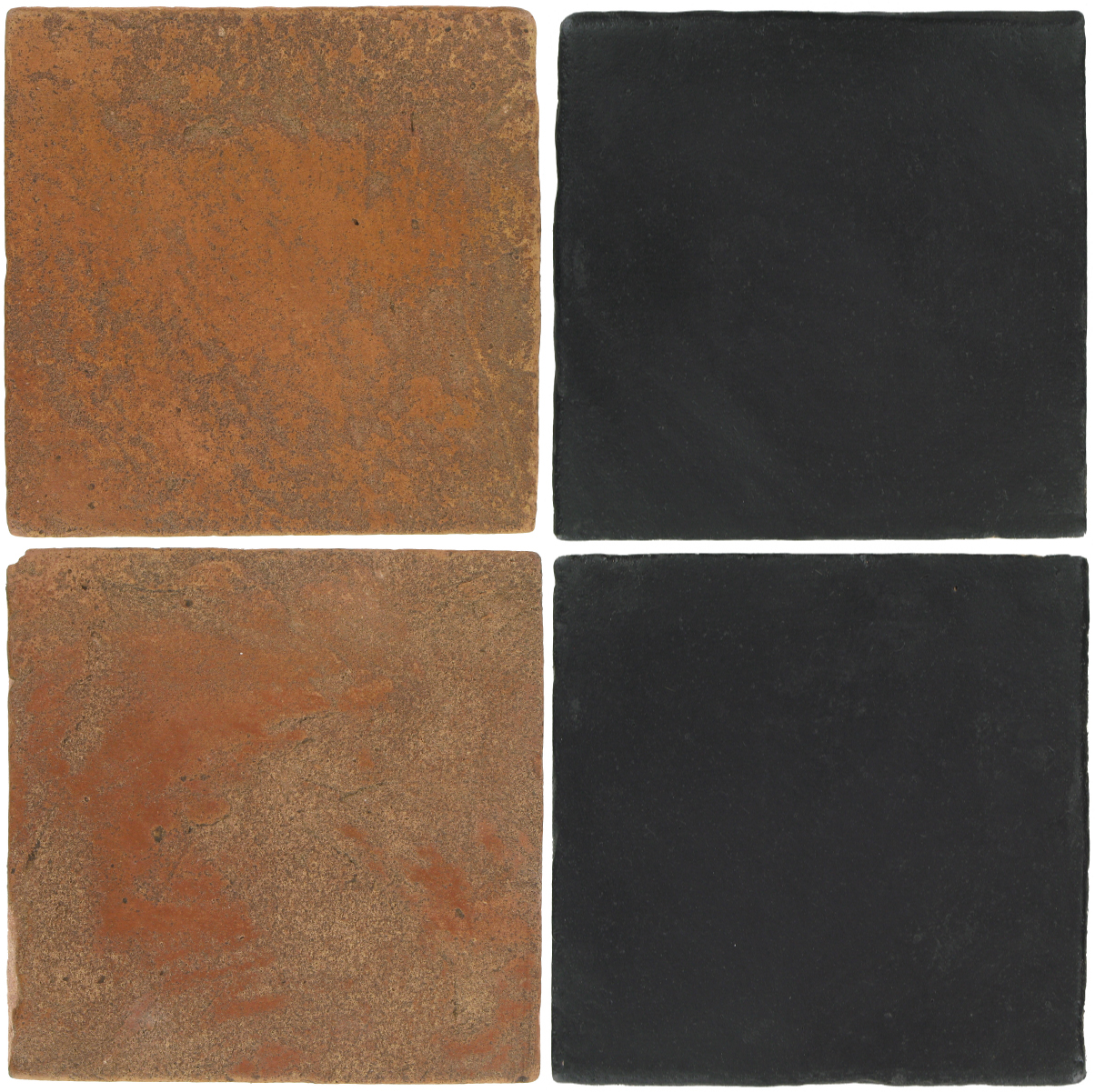 Pedralbes Antique Terracotta  2 Color Combinations  VTG-PSTR Traditional + OHS-PGCB Carbon Black