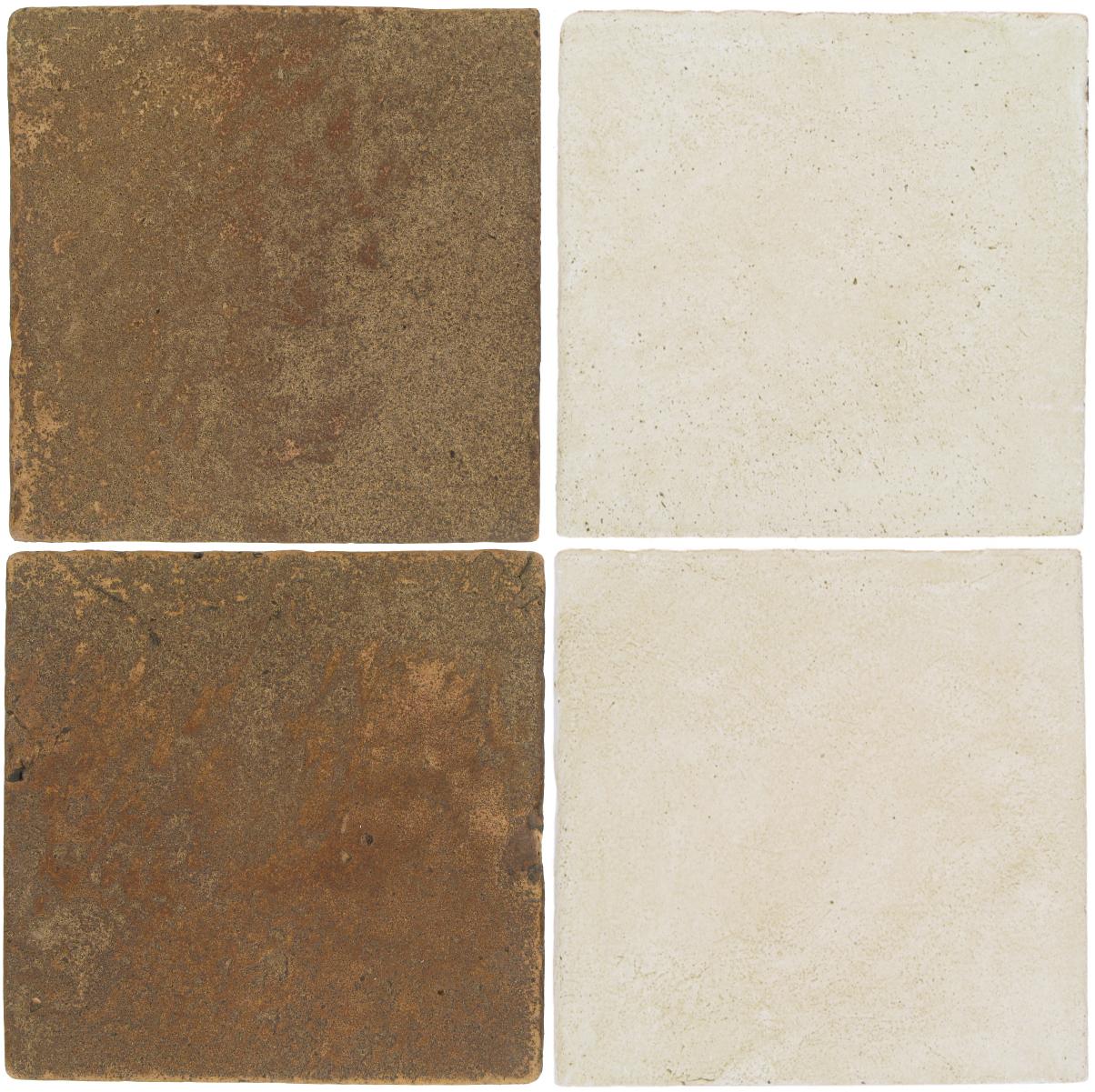 Pedralbes Antique Terracotta  2 Color Combinations  VTG-PSCM Camel Brown + OHS-PGAW Antique White