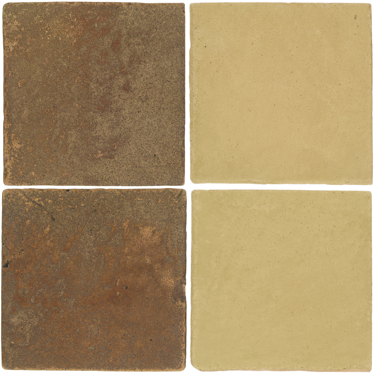 Pedralbes Antique Terracotta  2 Color Combinations  VTG-PSCM Camel Brown + OHS-PGGW Golden W.