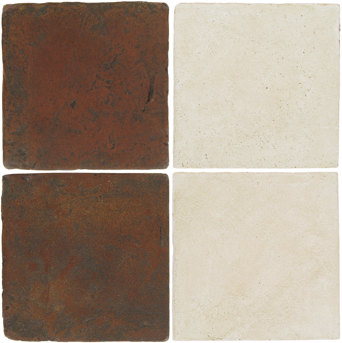 Pedralbes Antique Terracotta  2 Color Combinations  VTG-PSOW Old World + OHS-PGAW Antique White