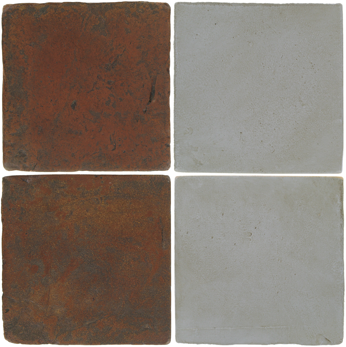 Pedralbes Antique Terracotta  2 Color Combinations  VTG-PSOW Old World + OHS-PGOG Oyster Grey