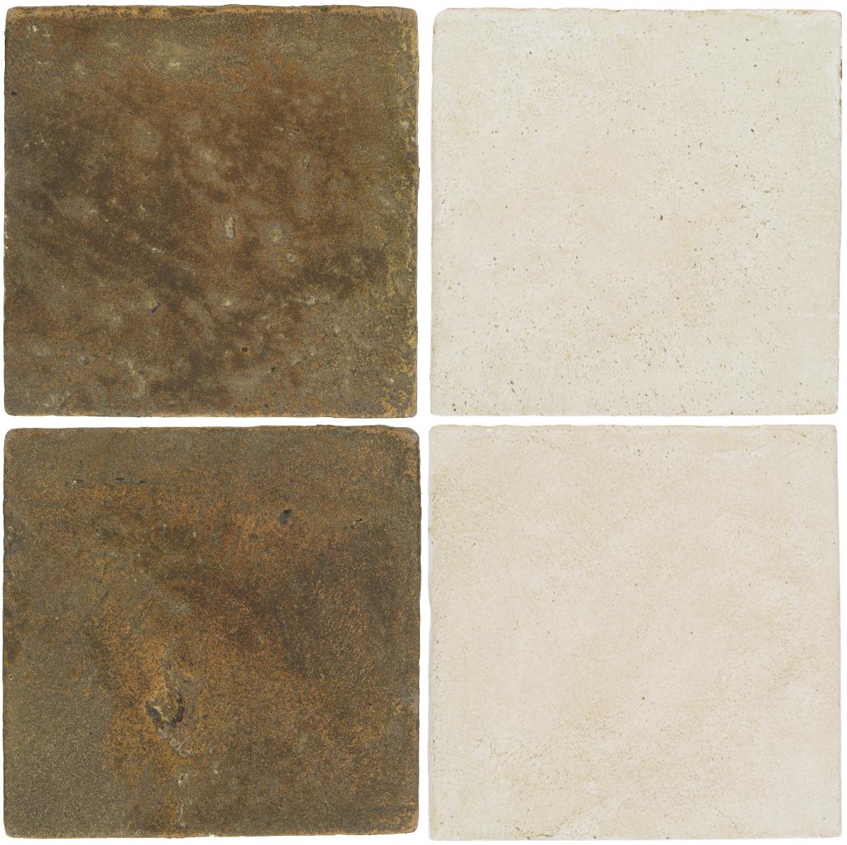 Pedralbes Antique Terracotta  2 Color Combinations  VTG-PSVN Verona Brown + OHS-PGAW Antique White