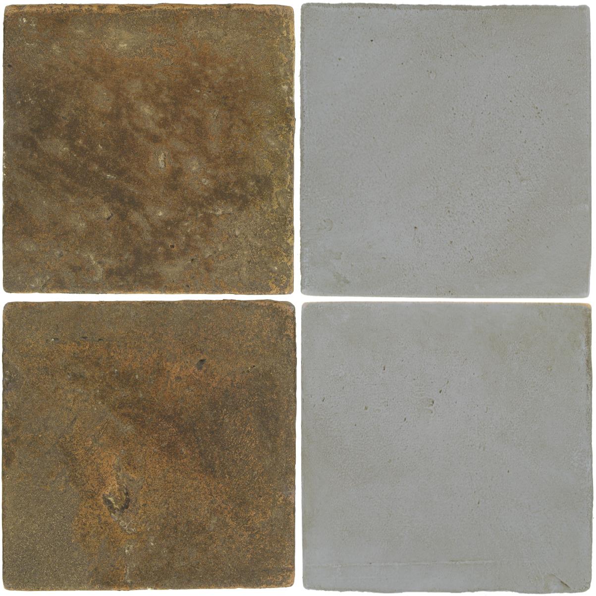 Pedralbes Antique Terracotta  2 Color Combinations  VTG-PSVN Verona Brown + OHS-PGOG Oyster Grey