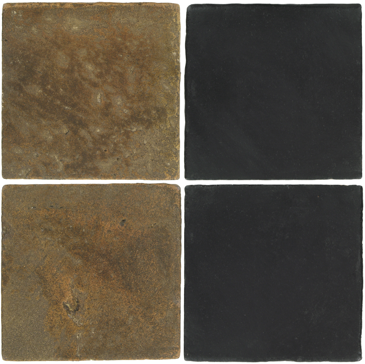 Pedralbes Antique Terracotta  2 Color Combinations  VTG-PSVN Verona Brown + OHS-PGCB Carbon Black
