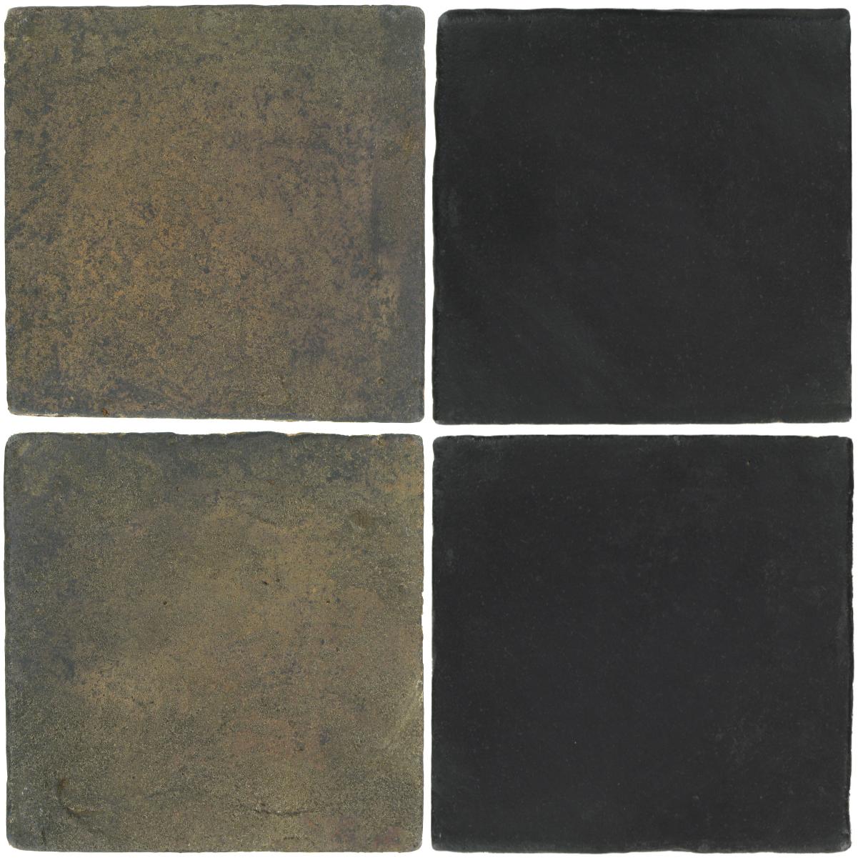 Pedralbes Antique Terracotta  2 Color Combinations  VTG-PSTG Terra Grey + OHS-PGCB Carbon Black