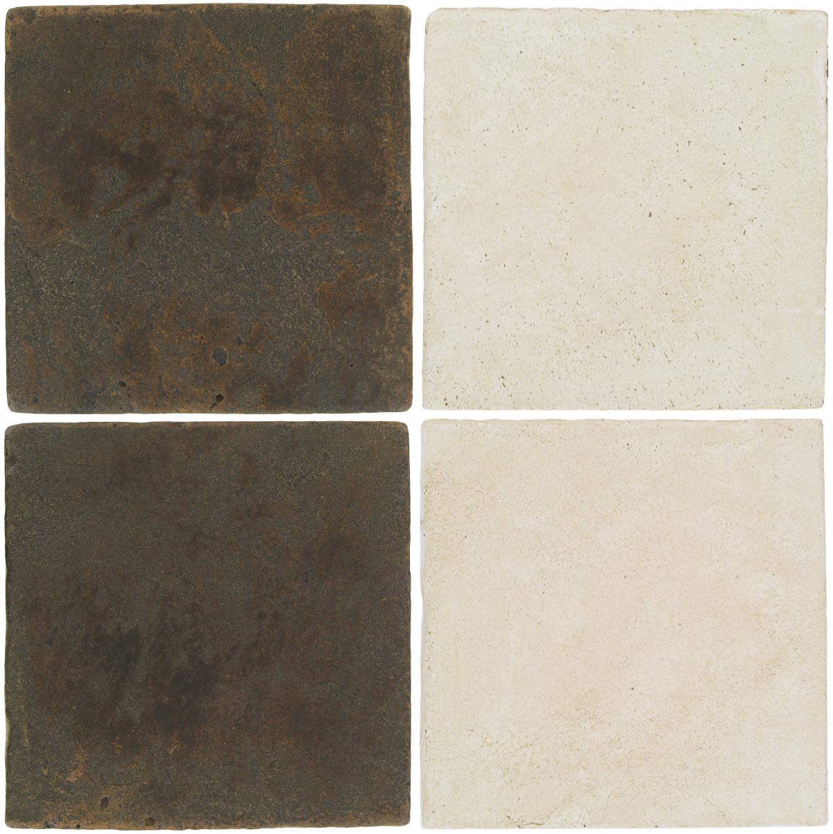 Pedralbes Antique Terracotta  2 Color Combinations  VTG-PSCO Cologne Brown + OHS-PGAW Antique White