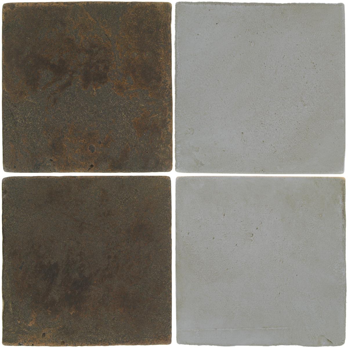 Pedralbes Antique Terracotta  2 Color Combinations  VTG-PSCO Cologne Brown + OHS-PGOG Oyster Grey