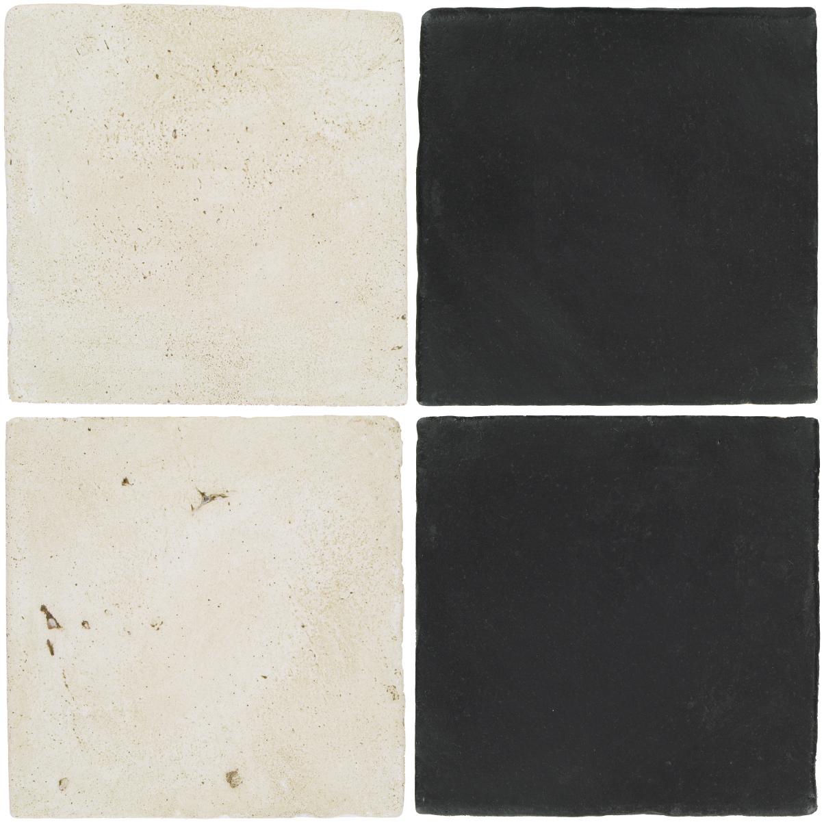 Pedralbes Antique Terracotta  2 Color Combinations  VTG-PGAW Antique White + OHS-PGCB Carbon Black