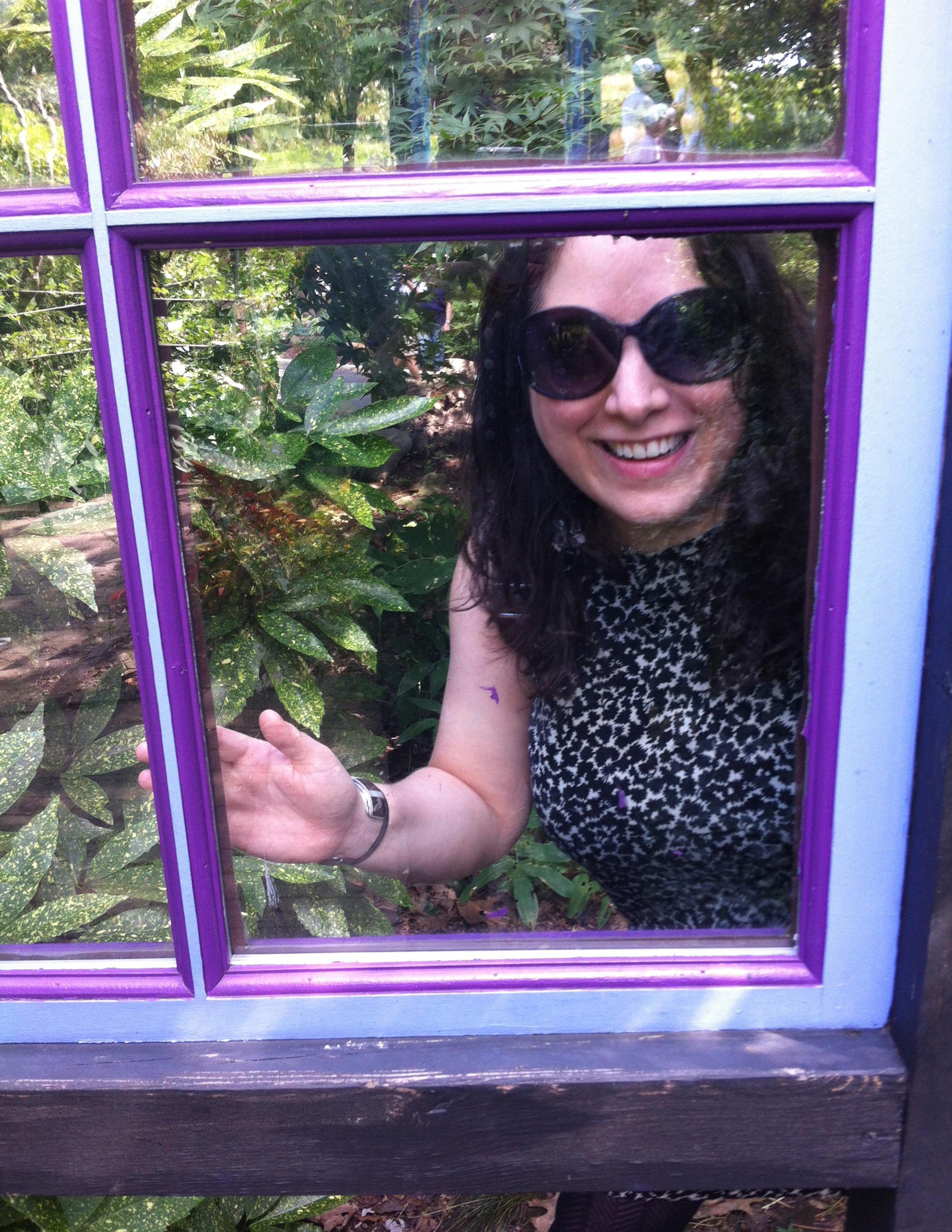 Goofing around in Queens Botanical Gardens