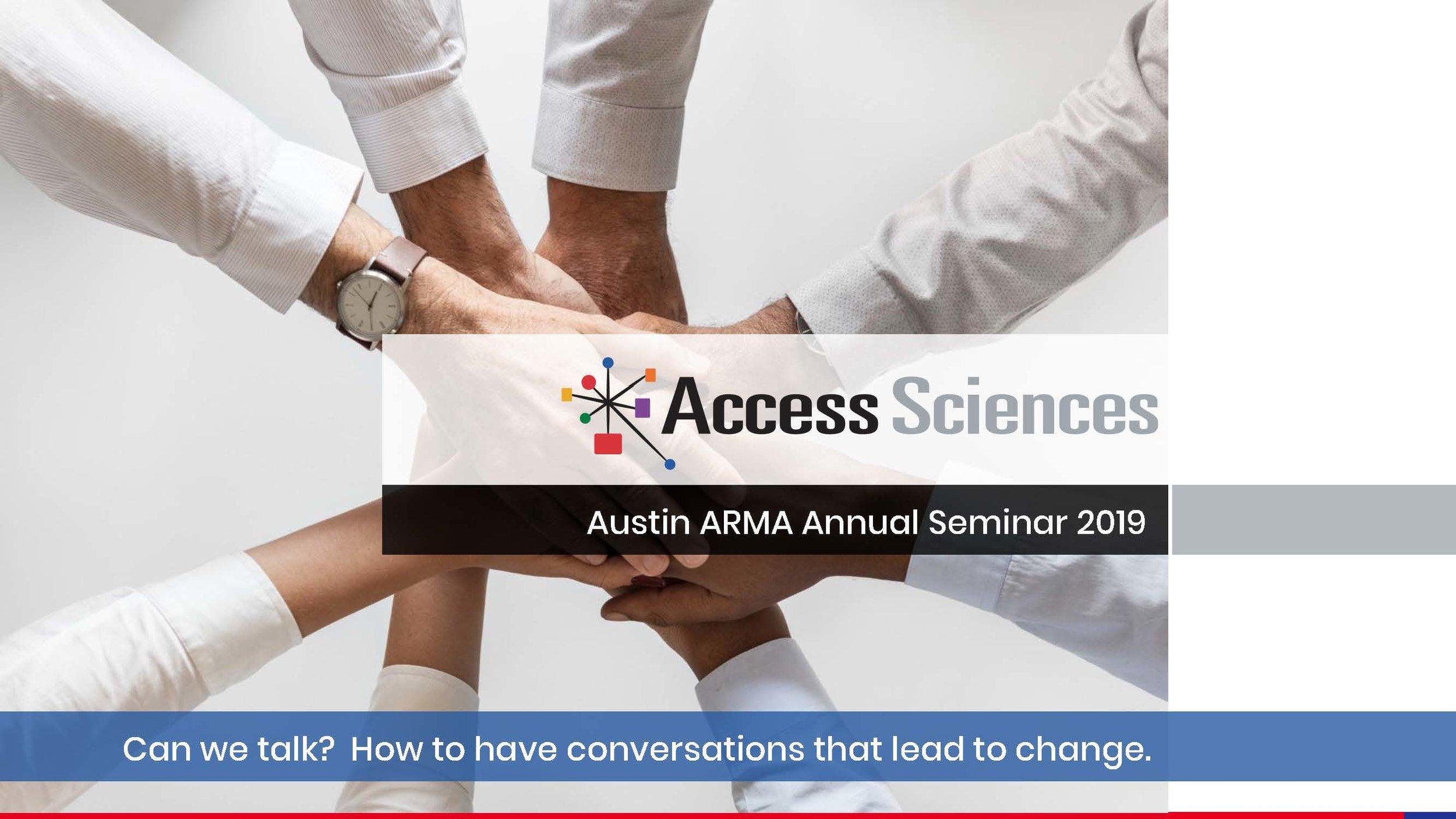 2019 Seminar Presentations — Austin ARMA