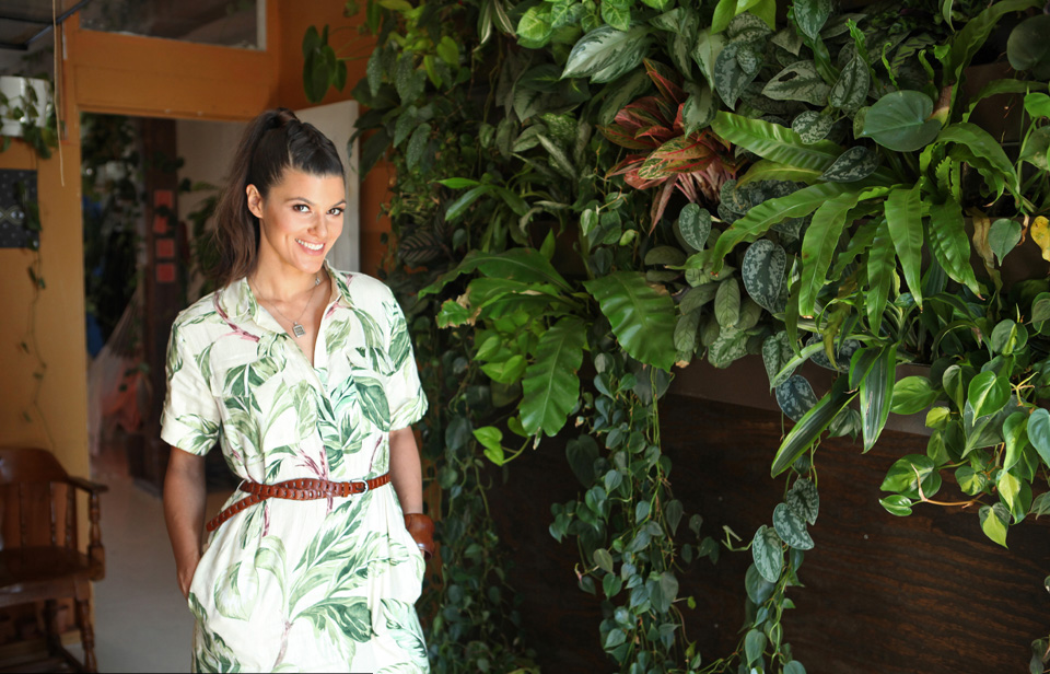 In camouflage alongside my vertical garden. Photo: Ruaridth Connellan for Barcroft TV