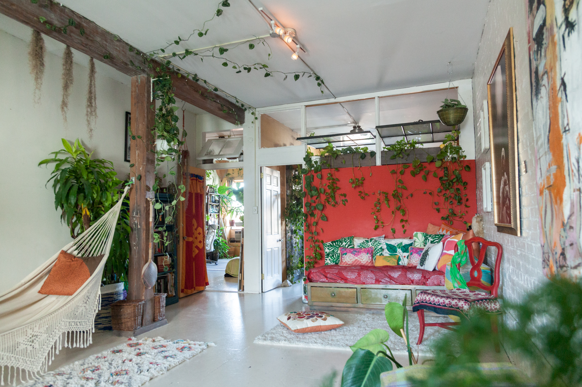 I've since cut back many of the pothos and philodendrons in my living room, which promote more bushy vs. leggy growth. Additionally snipping your plants also allows you to propagate them easily.