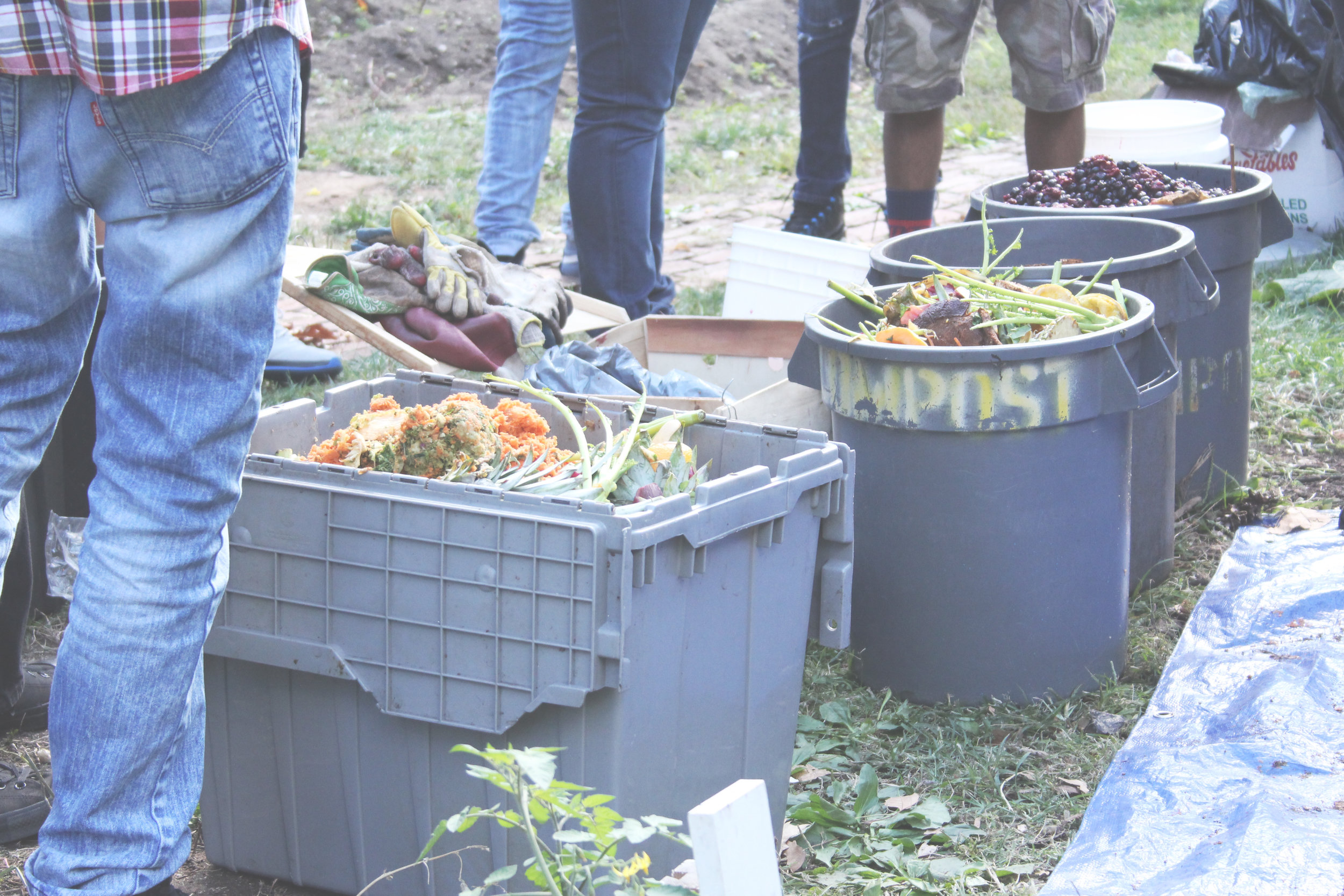 Some of the compost scraps collected near community gardens and farmers markets. Photo courtesy of Laura Rosenshine.