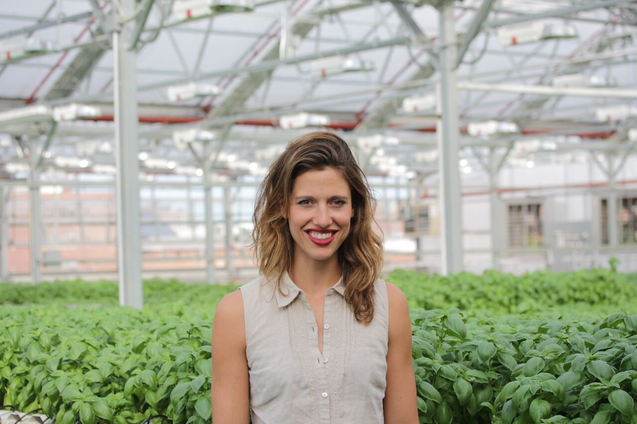 Nicole Baum of Gotham Greens took us on tour of the first commercial hydroponic rooftop farm in the U.S.