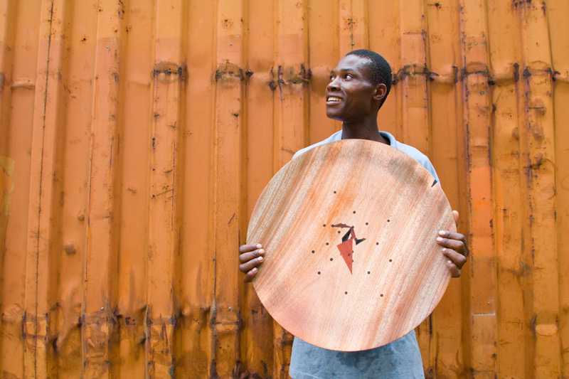 A finished Sofala Plate made out of secondary recovery wood from the Mezimbite Forest Centre. Photo: Esther Havens