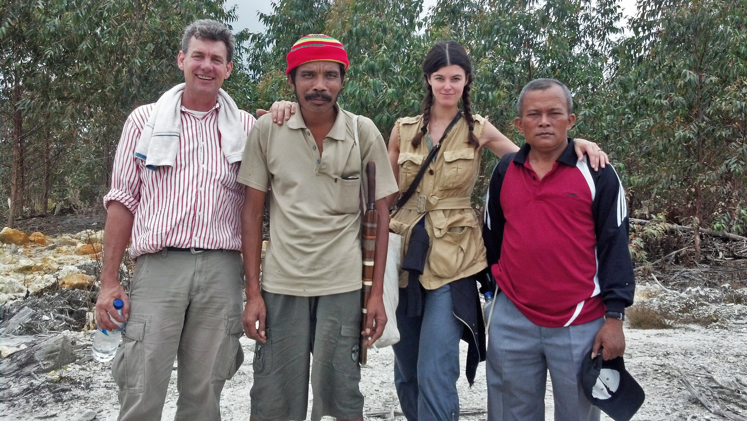 Traveling through Sumatra with Lafcadio from RAN and members of the Pandumaa.