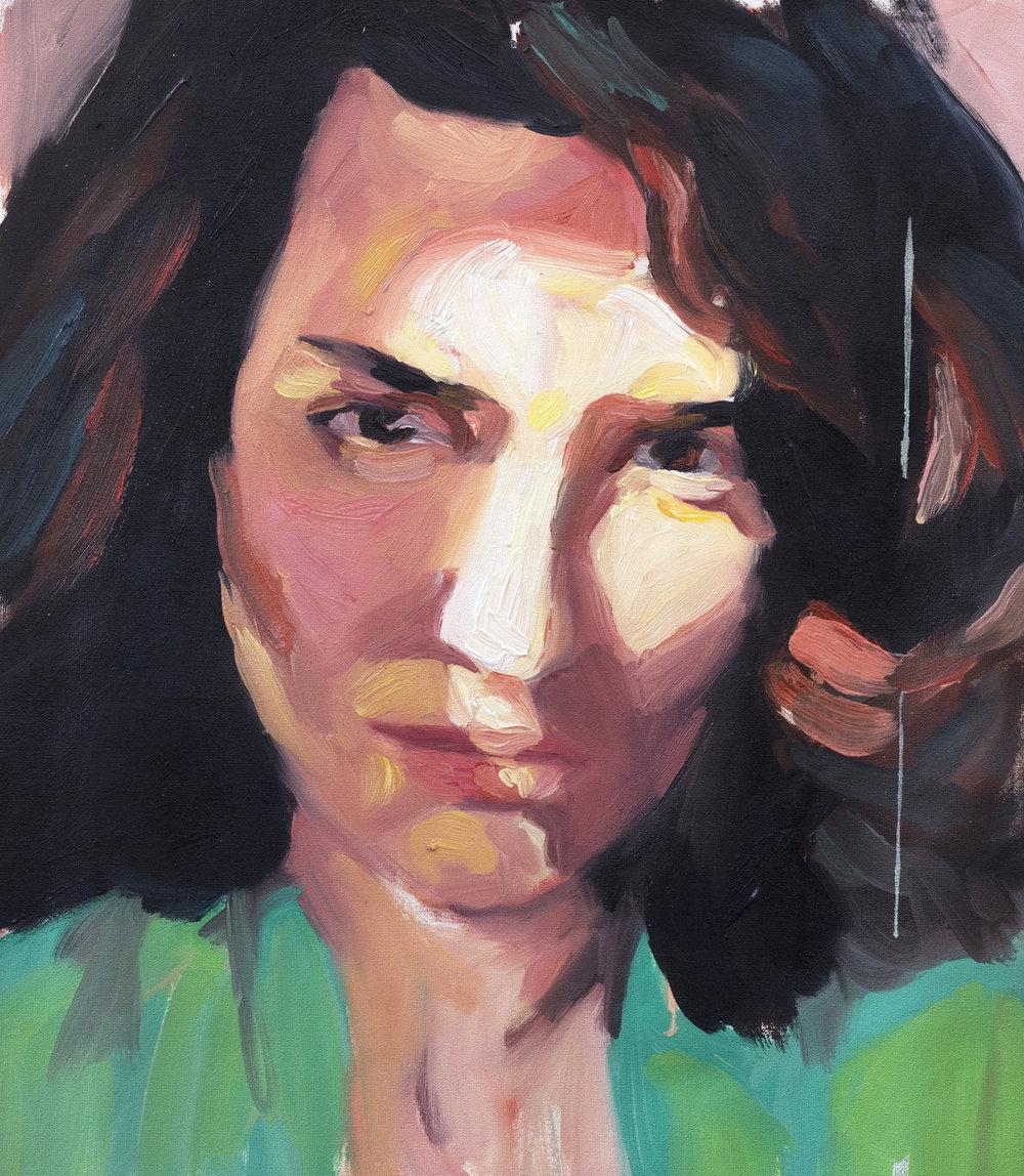 Rosas, 2018. Oil on canvas. 39 x 32 cm.