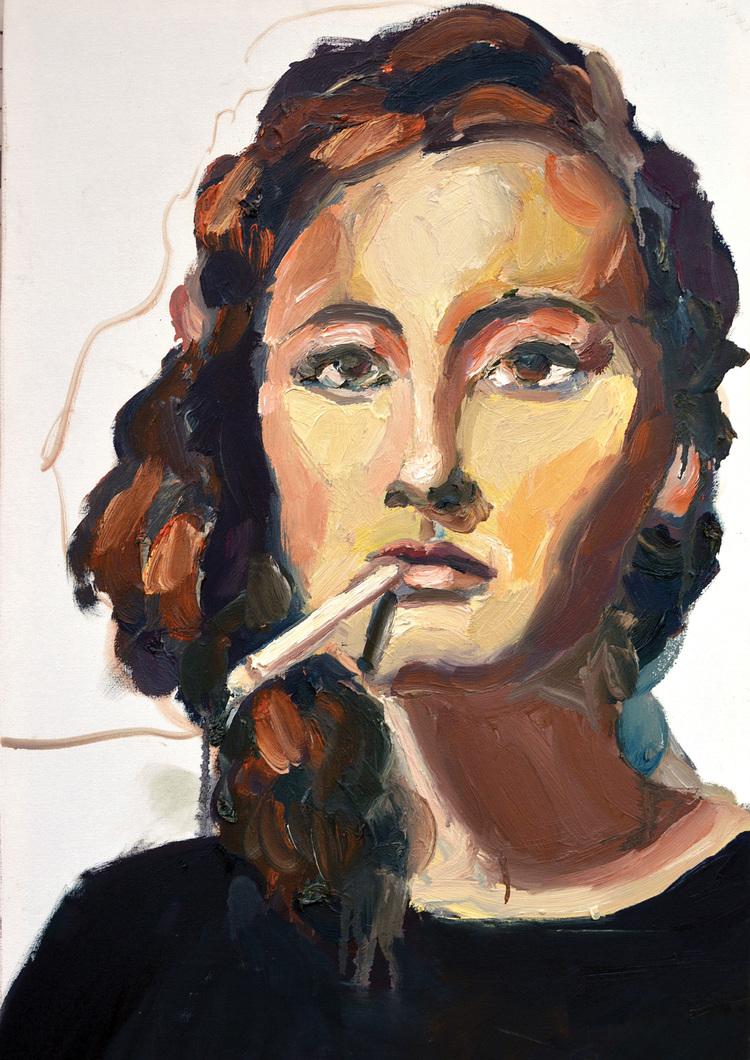 Thompson, 2016. Oil on canvas.