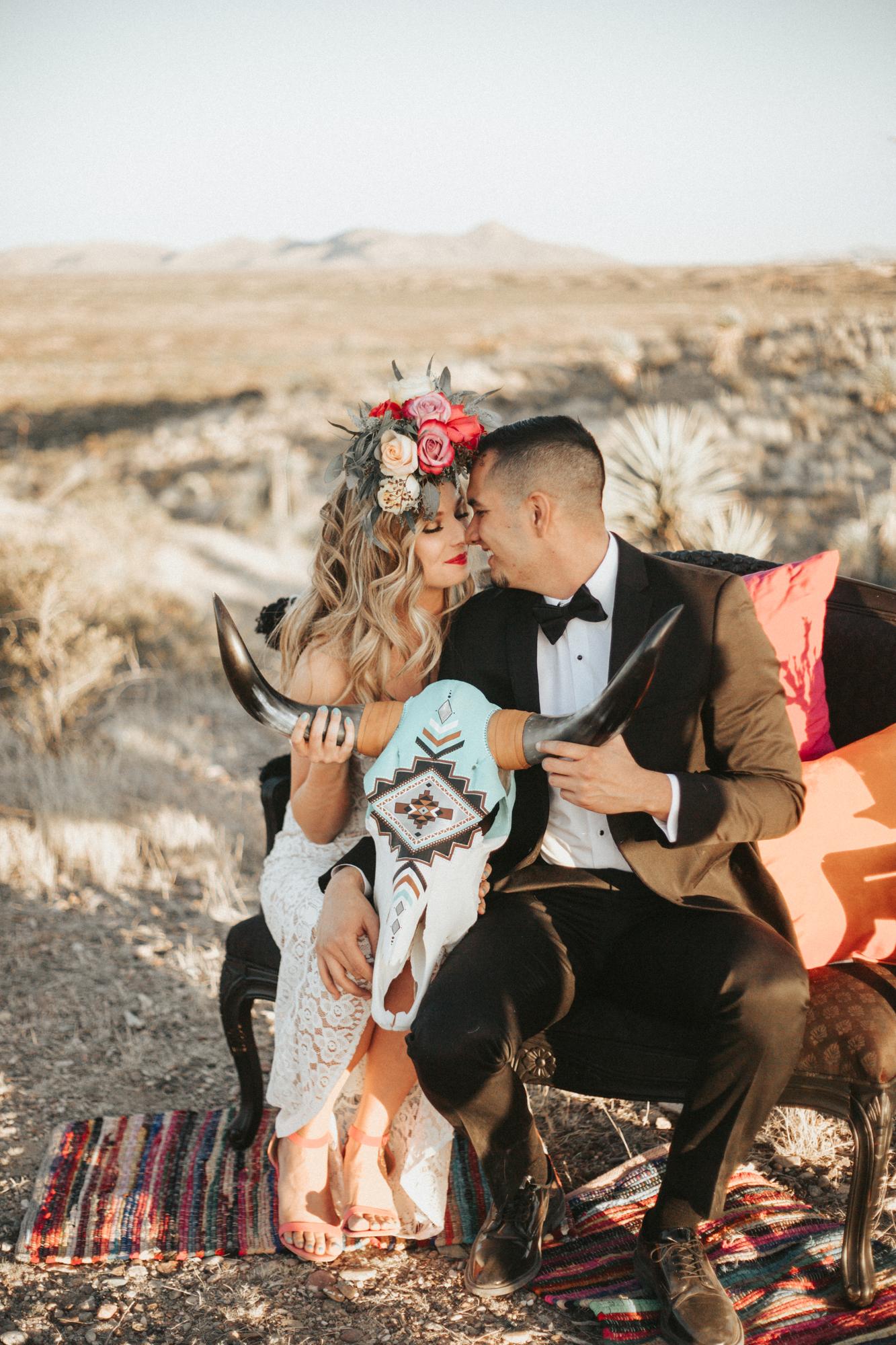 NEW MEXICO - Southwest Styled ElopementVendors:Hair/makeup:Ashley Apodaca HairDecor/Styling:Three SistersFlorals:Kern Place FloristTux:Renee's BridalJewelry:CheekyInvites/Calligraphy:Letters and SuchSkull:Spiced InkDonkey:Katlyn Gray/ Captain JackCake:ChantillyCookies:Cara's CreationsPhotographer & Video:Jazmine Rubio Photo + Film
