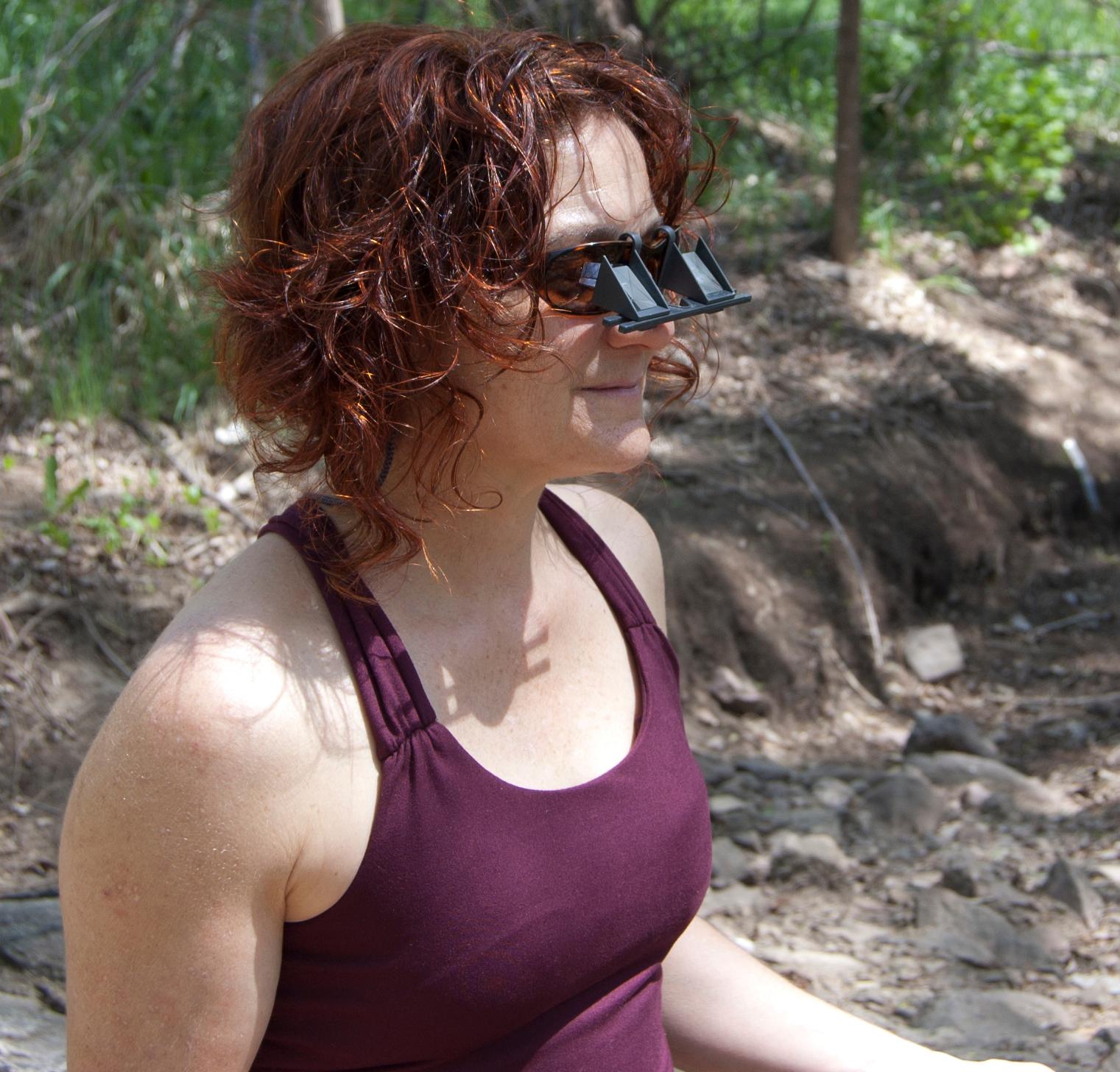 Mary Iannotti wearing Belay Glasses by Belay Optics