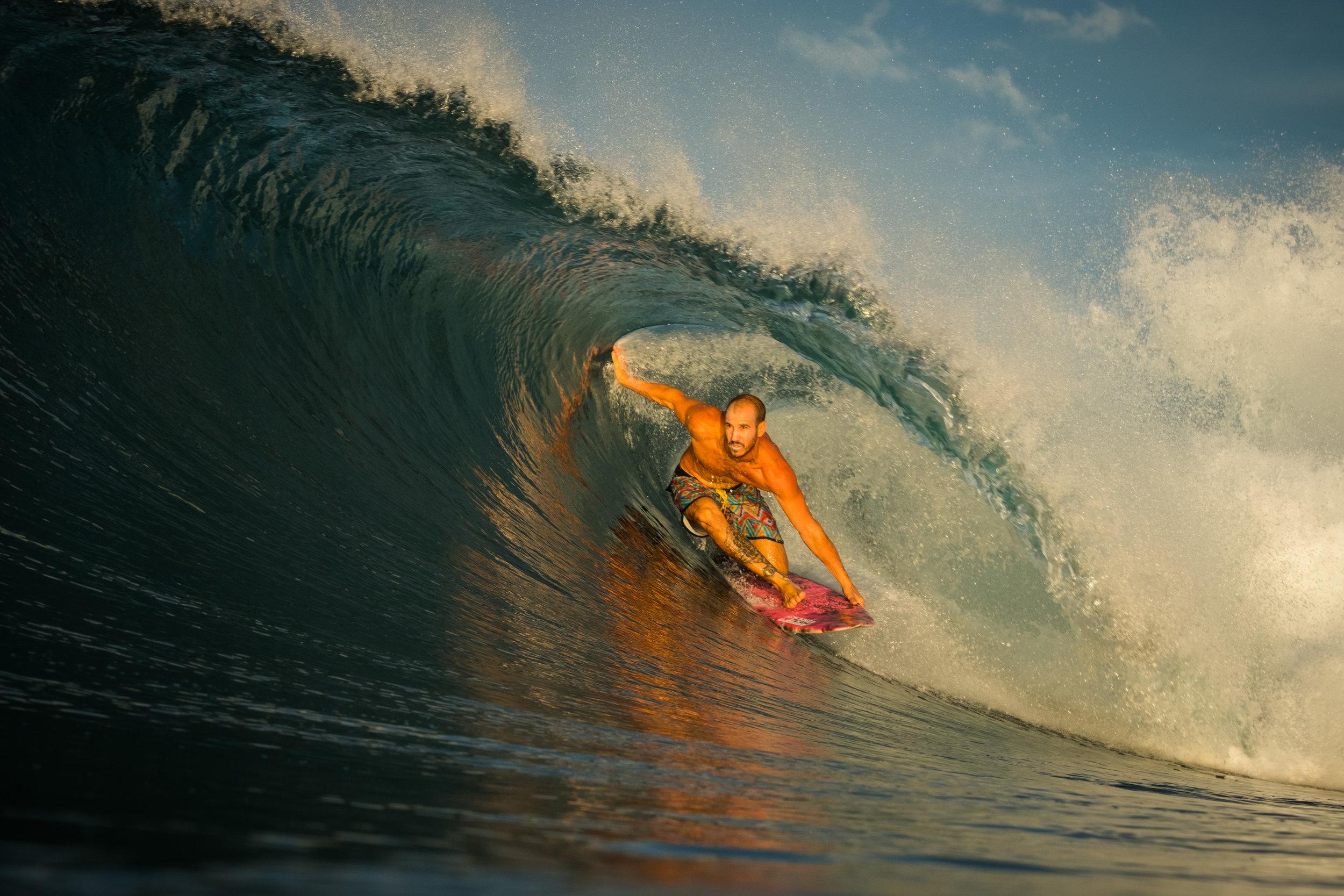Nicolas Fischer en playa hermosa  Fuji XT-2 / 90mm