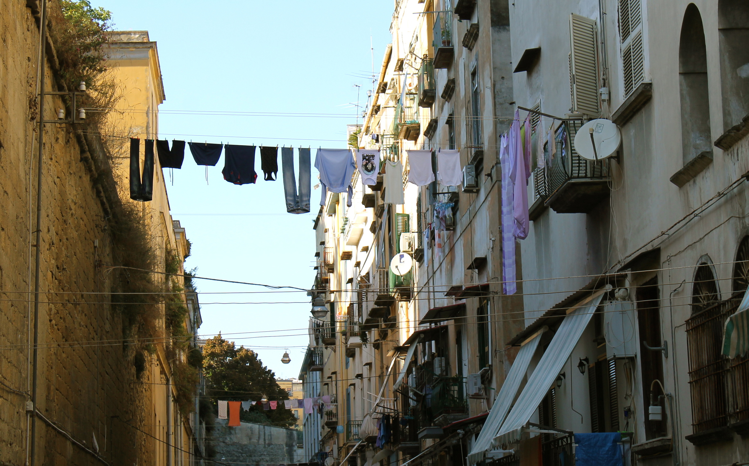 Clotheslines are EVERYWHERE in Naples.