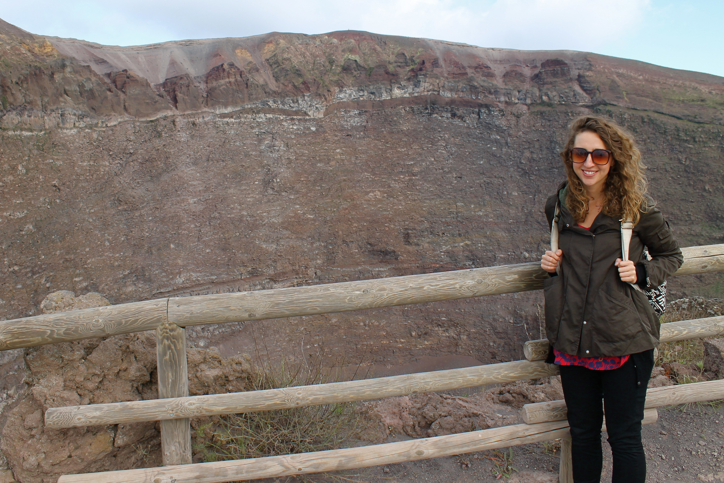 Now, here I am on the top of Vesuvius.