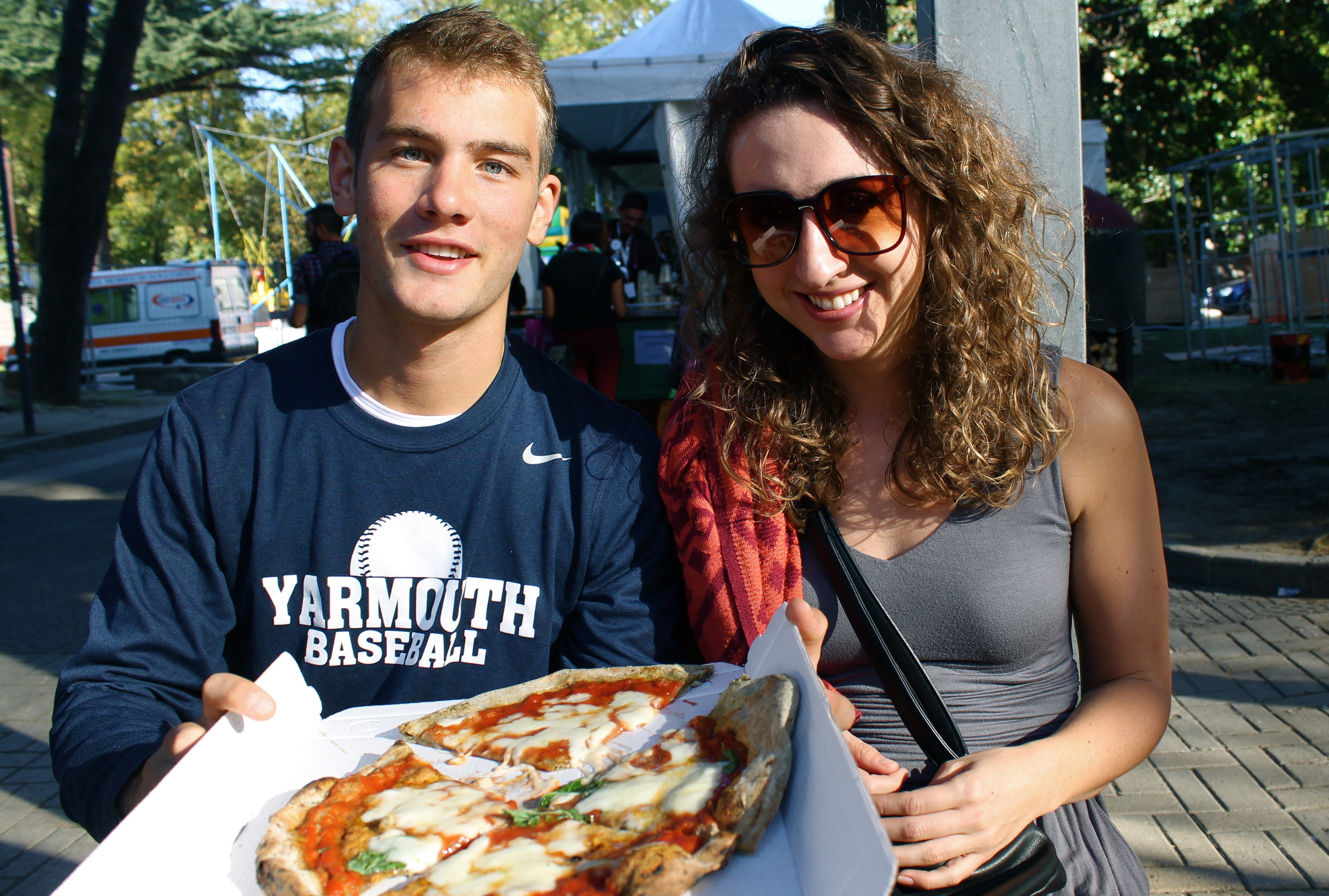 Kris and I attended a HempFest and got hemp pizza. (Only effect was that it was crunchier)