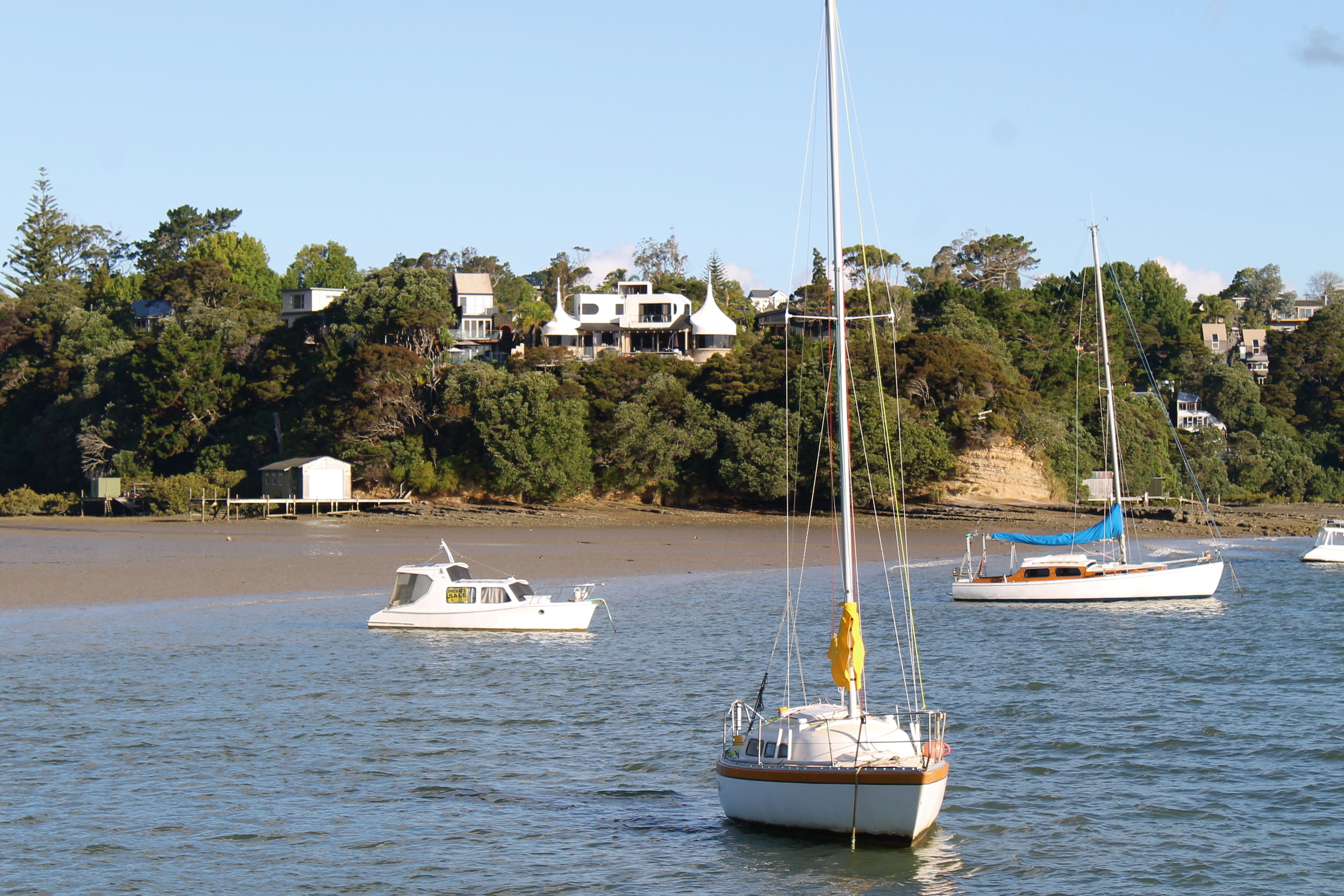 See that pointy house that could pass as a hobbit resort? That's my house. YUP. This was taken from the Beach Haven ferry.