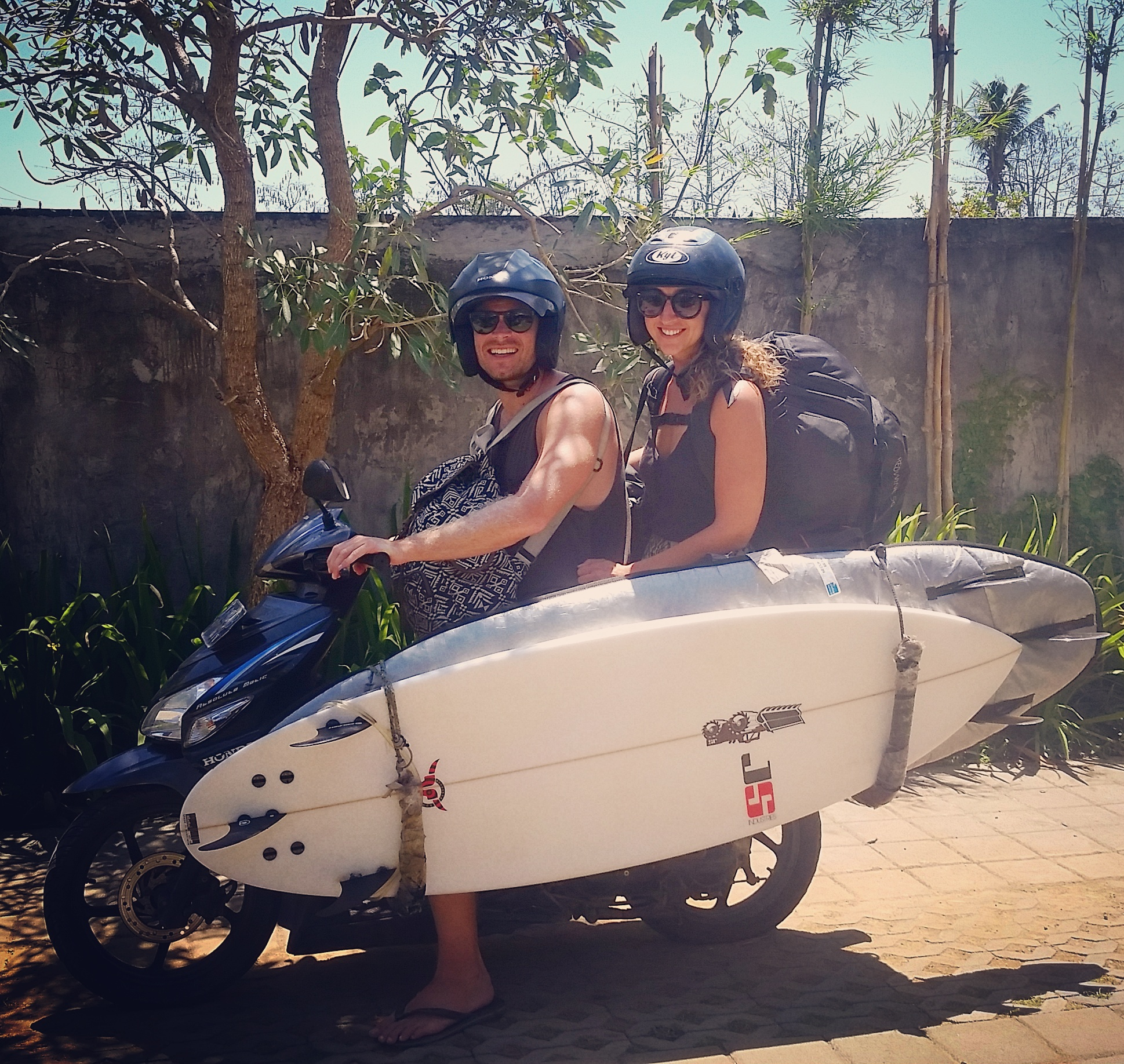 Scott and I rented this scooter for 5 weeks and the speedometer doesn't work but at $2 USD a day, who can complain.