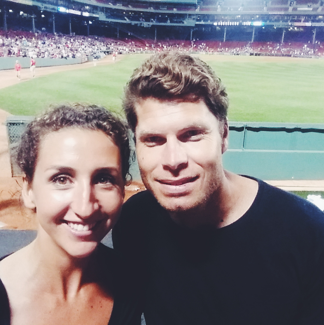Scott's first baseball game.