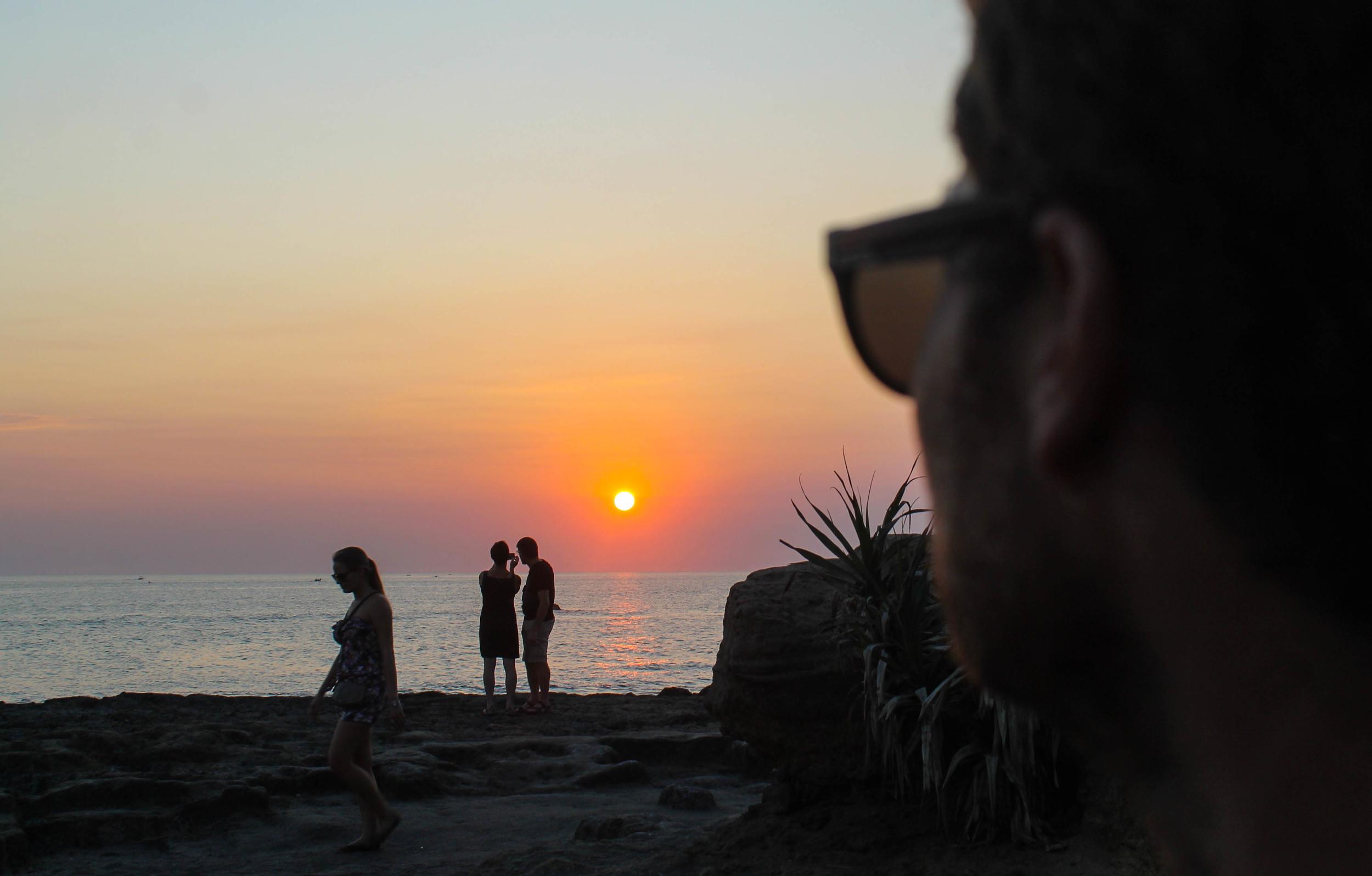 Sunset at Echo Beach.