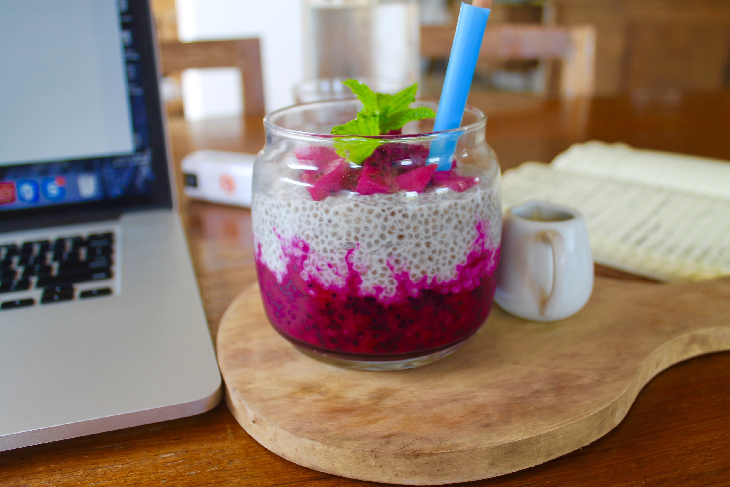 Bali: Because if you need to stare at computer screen most days you might as well be somewhere that you'll be served dragonfruit chia seed pudding for breakfast...