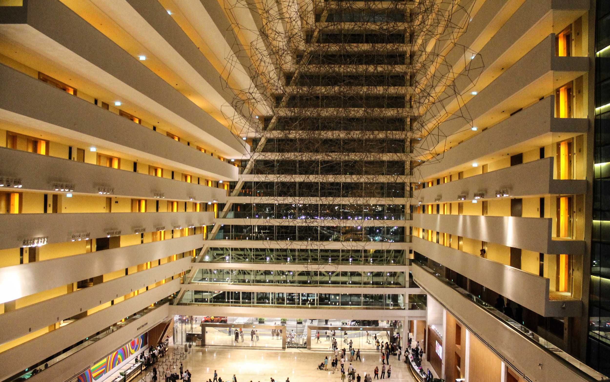 Inside the  Marina Bay Sands Hotel.
