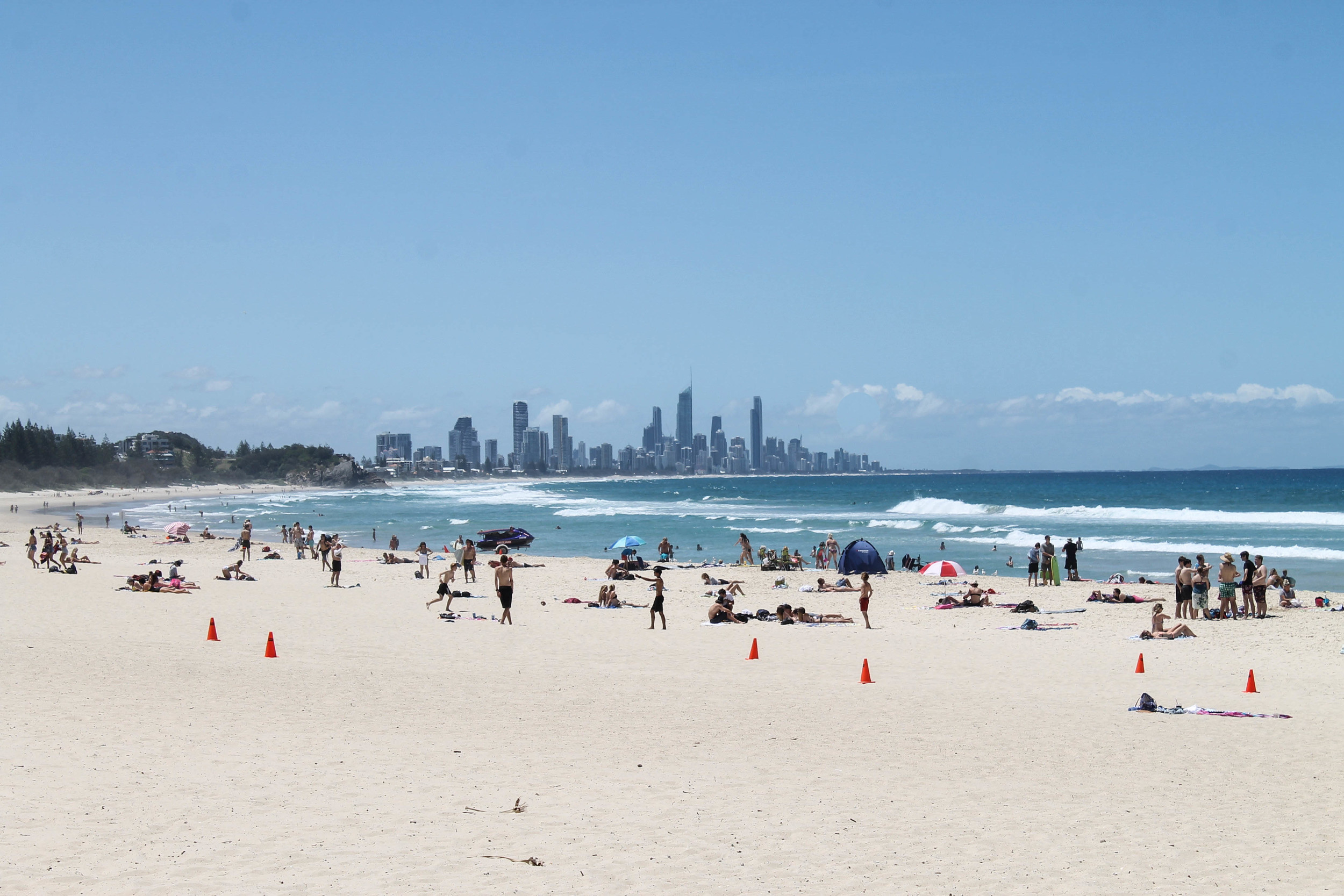 The beach at Burleigh Heads.