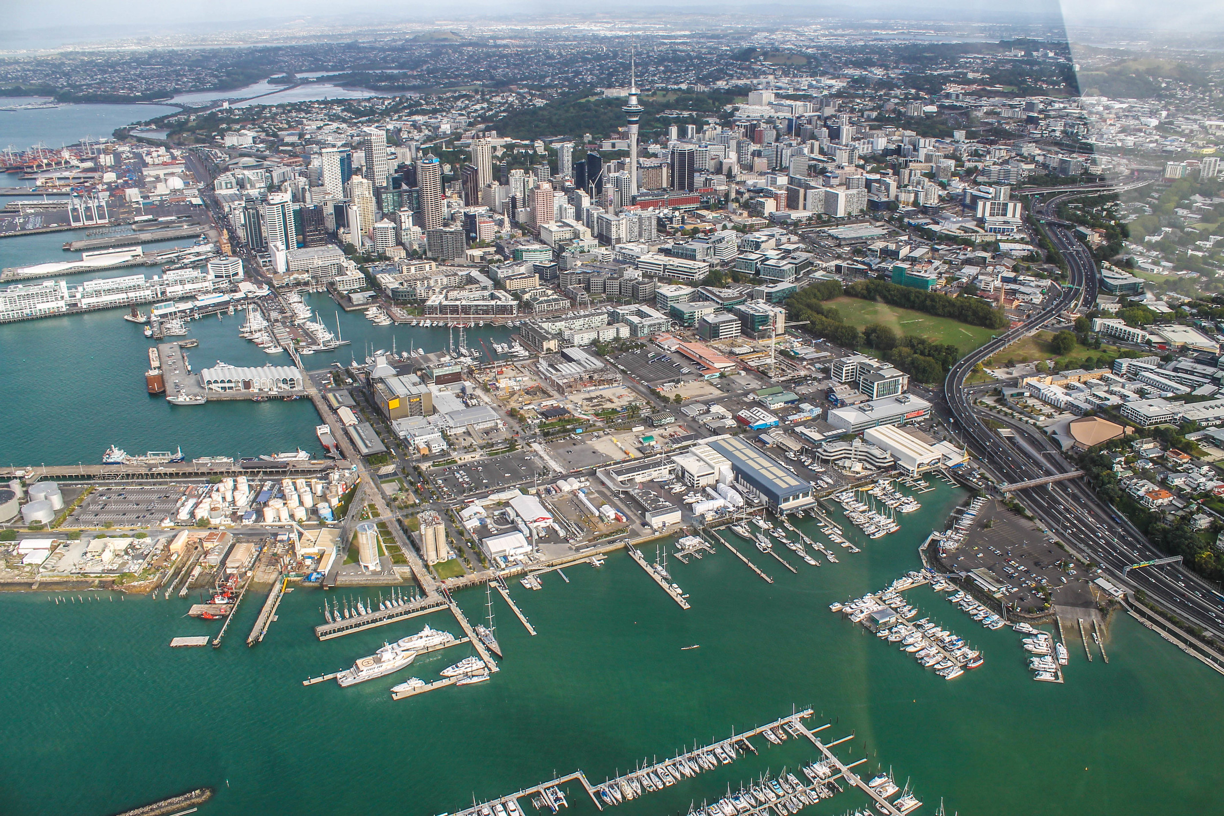 Flying over Auckland!