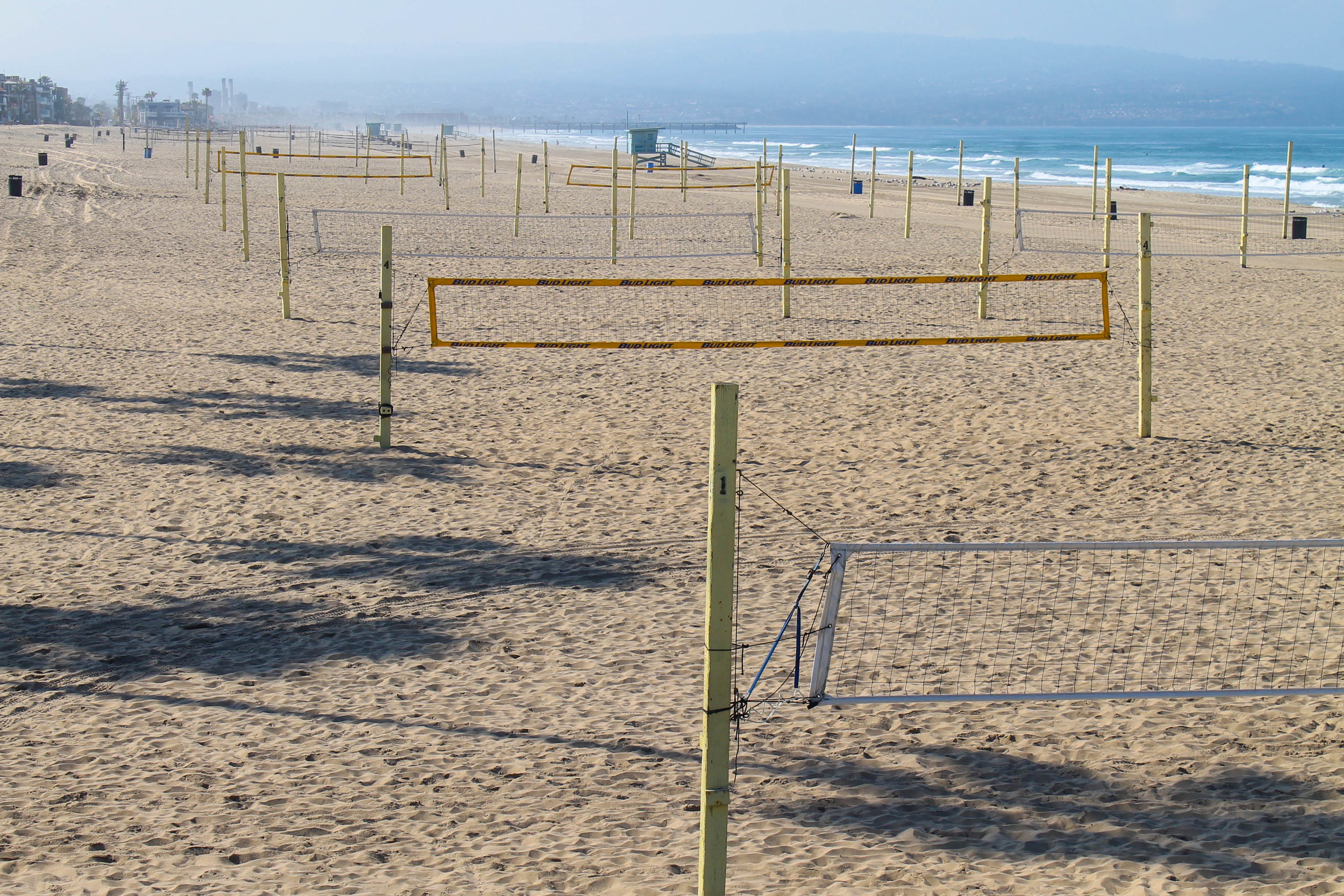LA volleyball courts