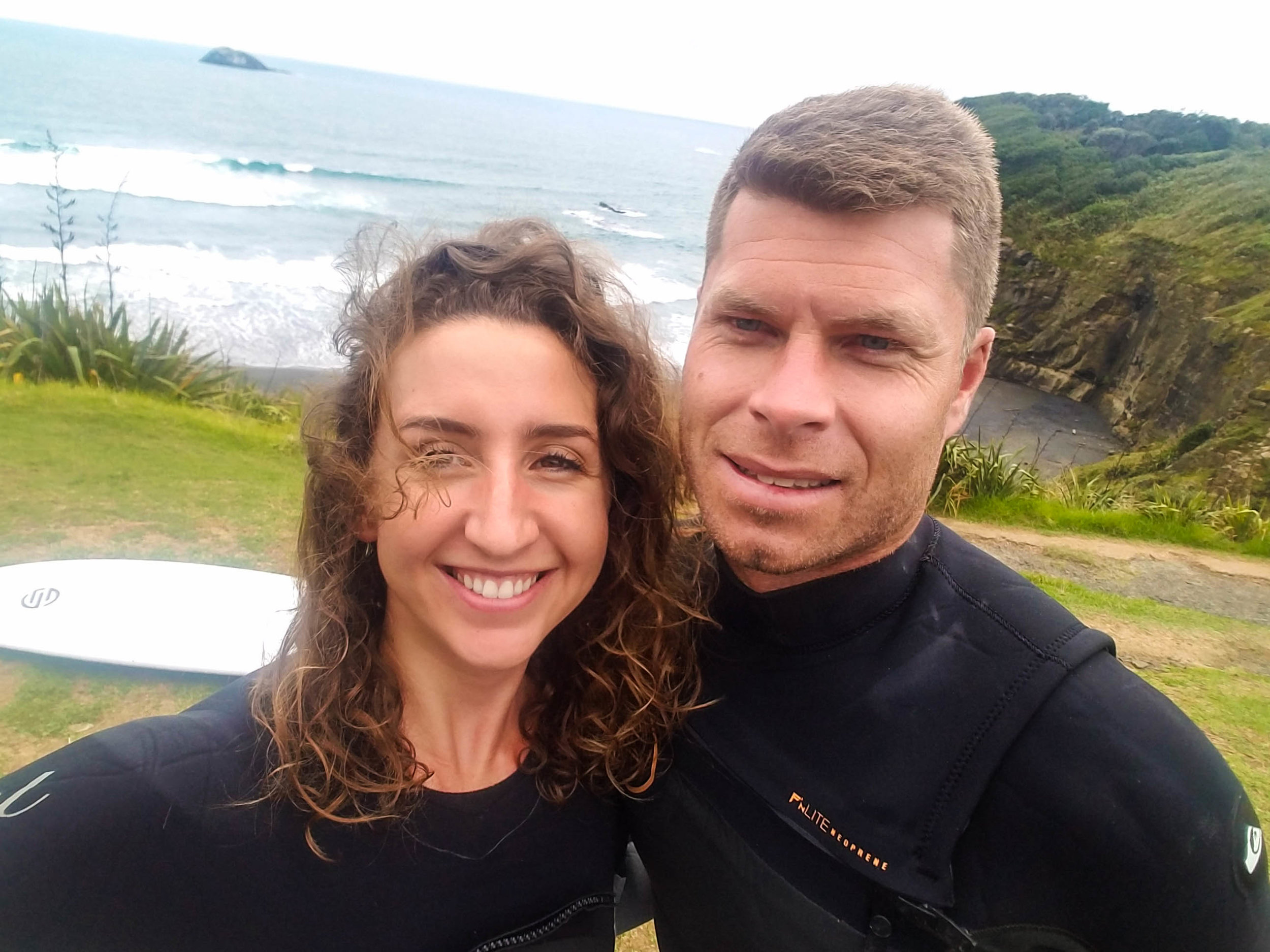 Pre-surf at Maori Bay.