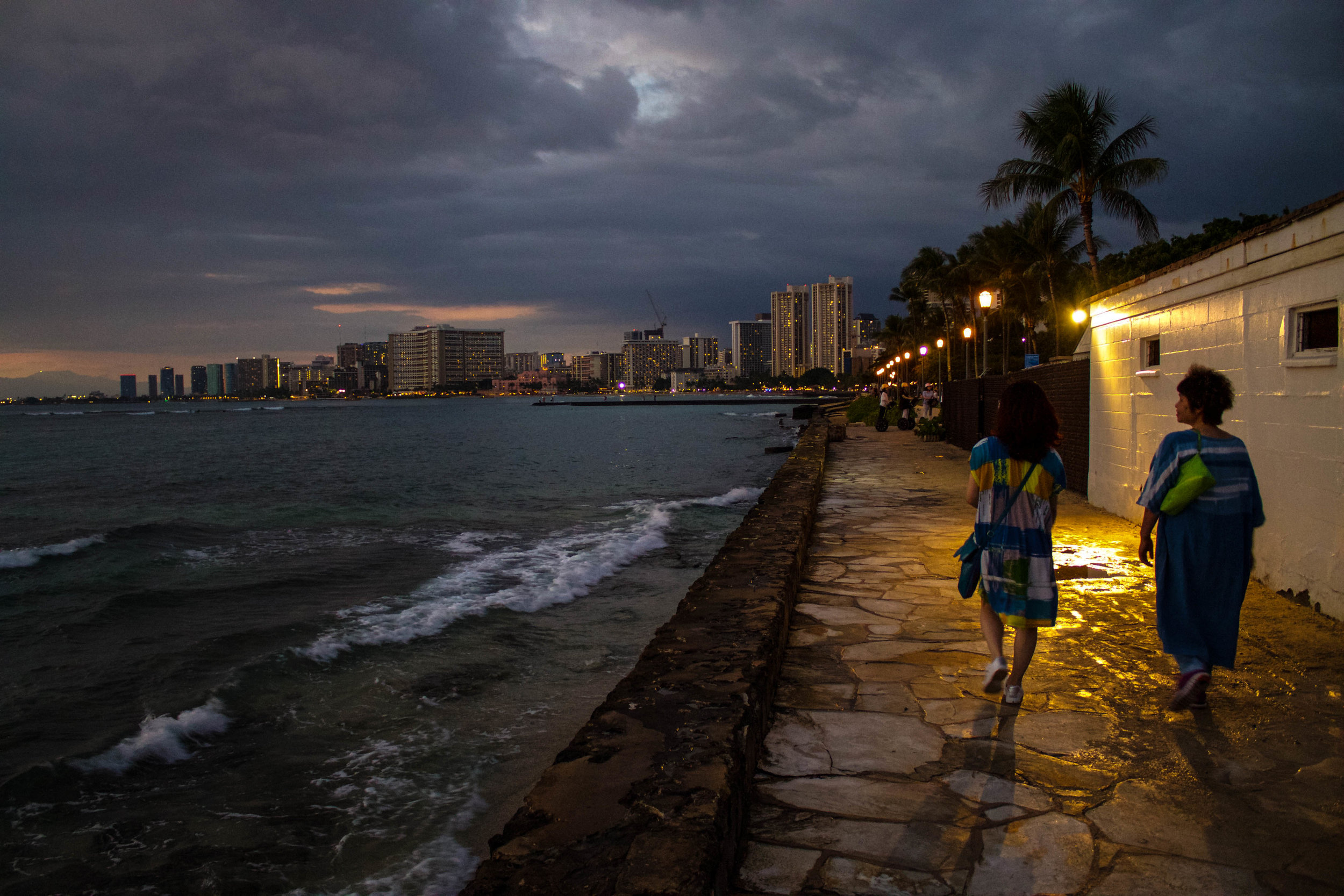 Waikiki by night.