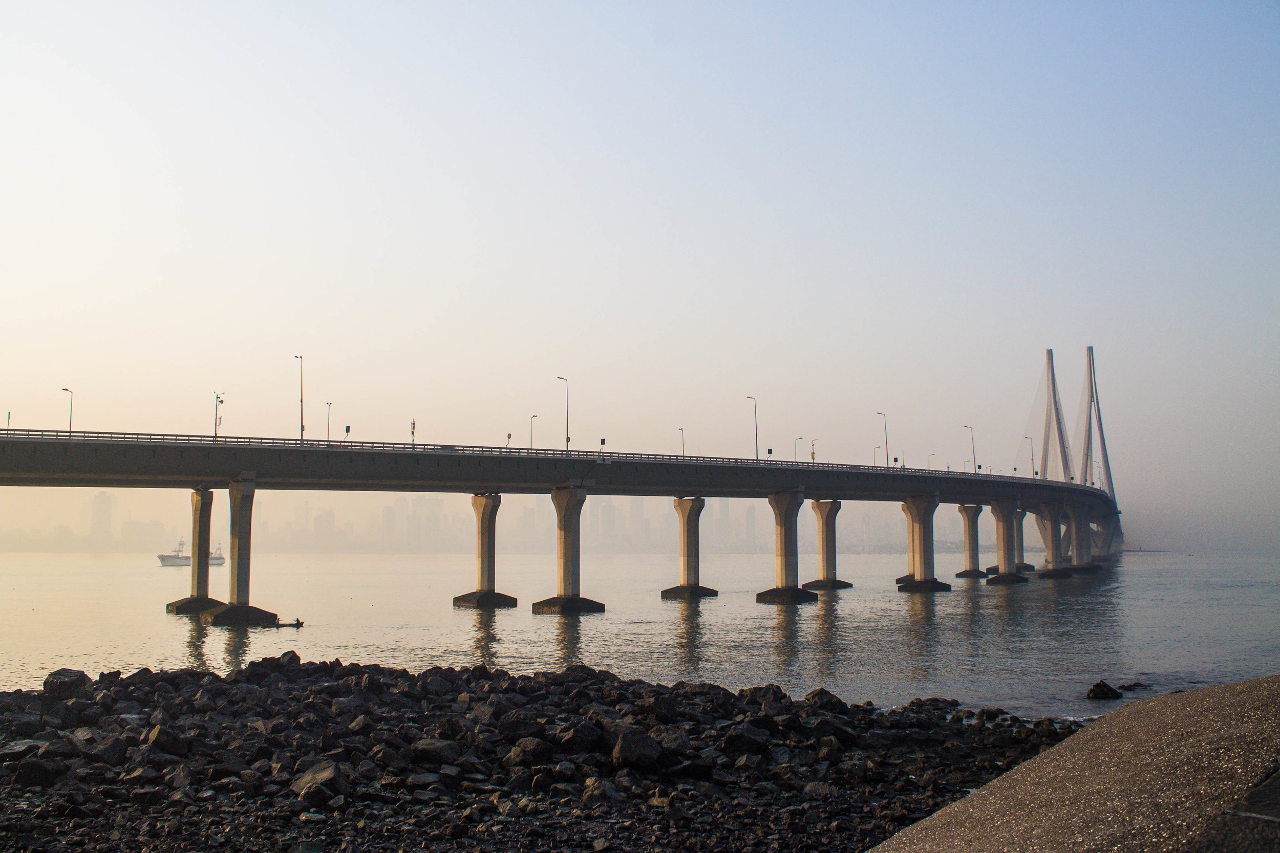 Bandra-Worli Sea Link — or as I called it: the Indian Zakim Bridge.